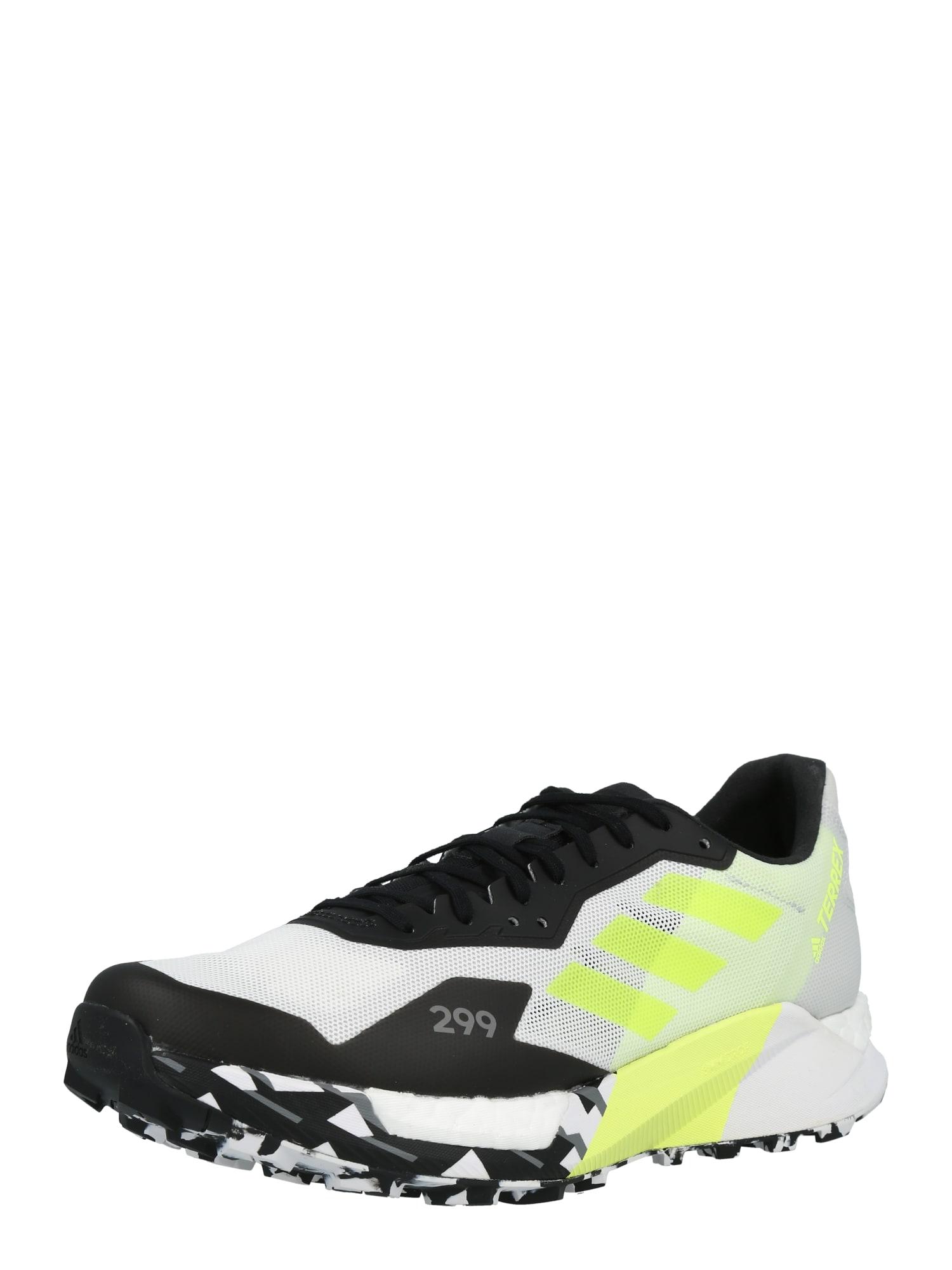 ADIDAS PERFORMANCE Sportovní boty  bílá / černá / svítivě žlutá