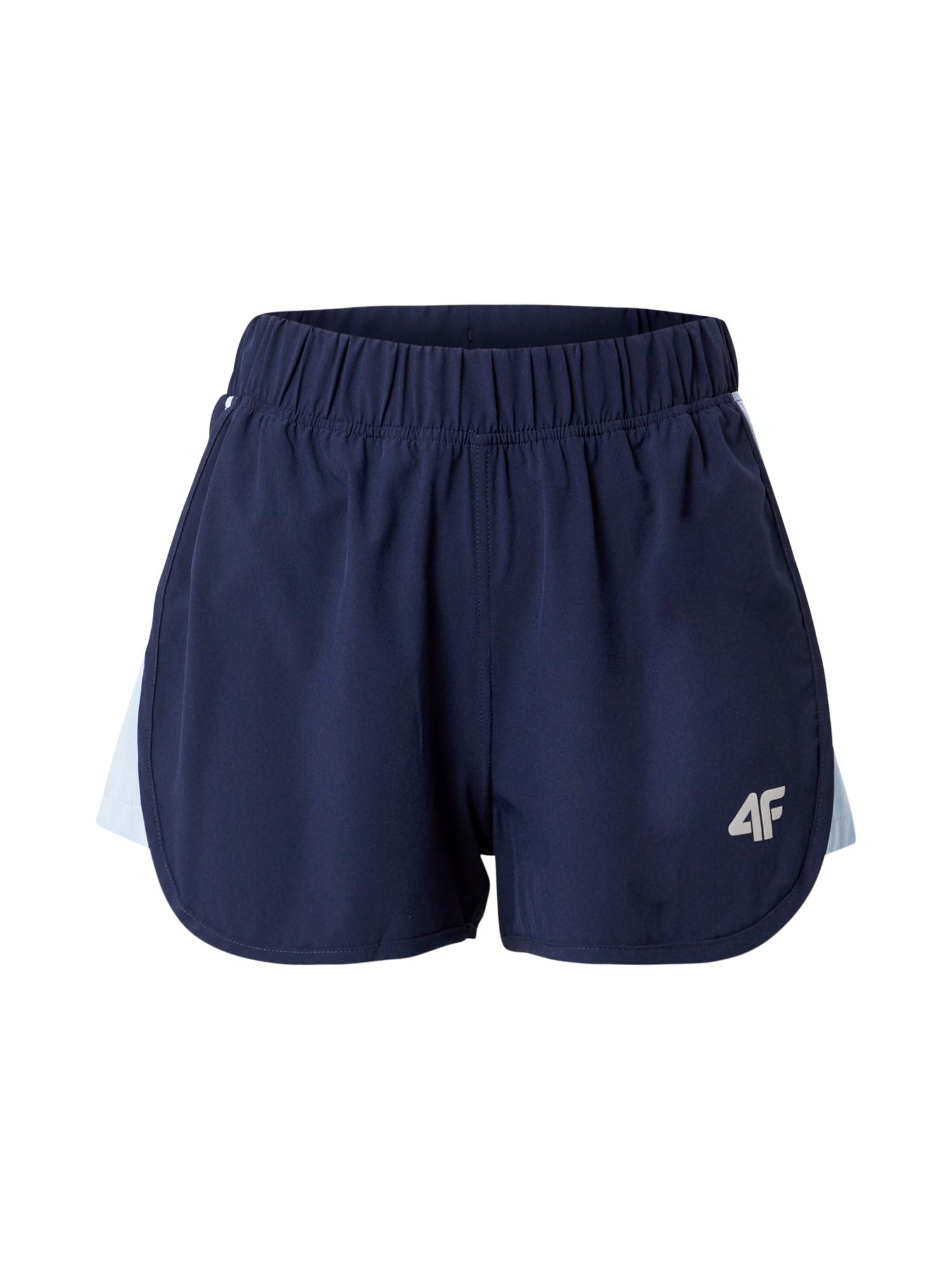 4F Sportinės kelnės tamsiai mėlyna / balta