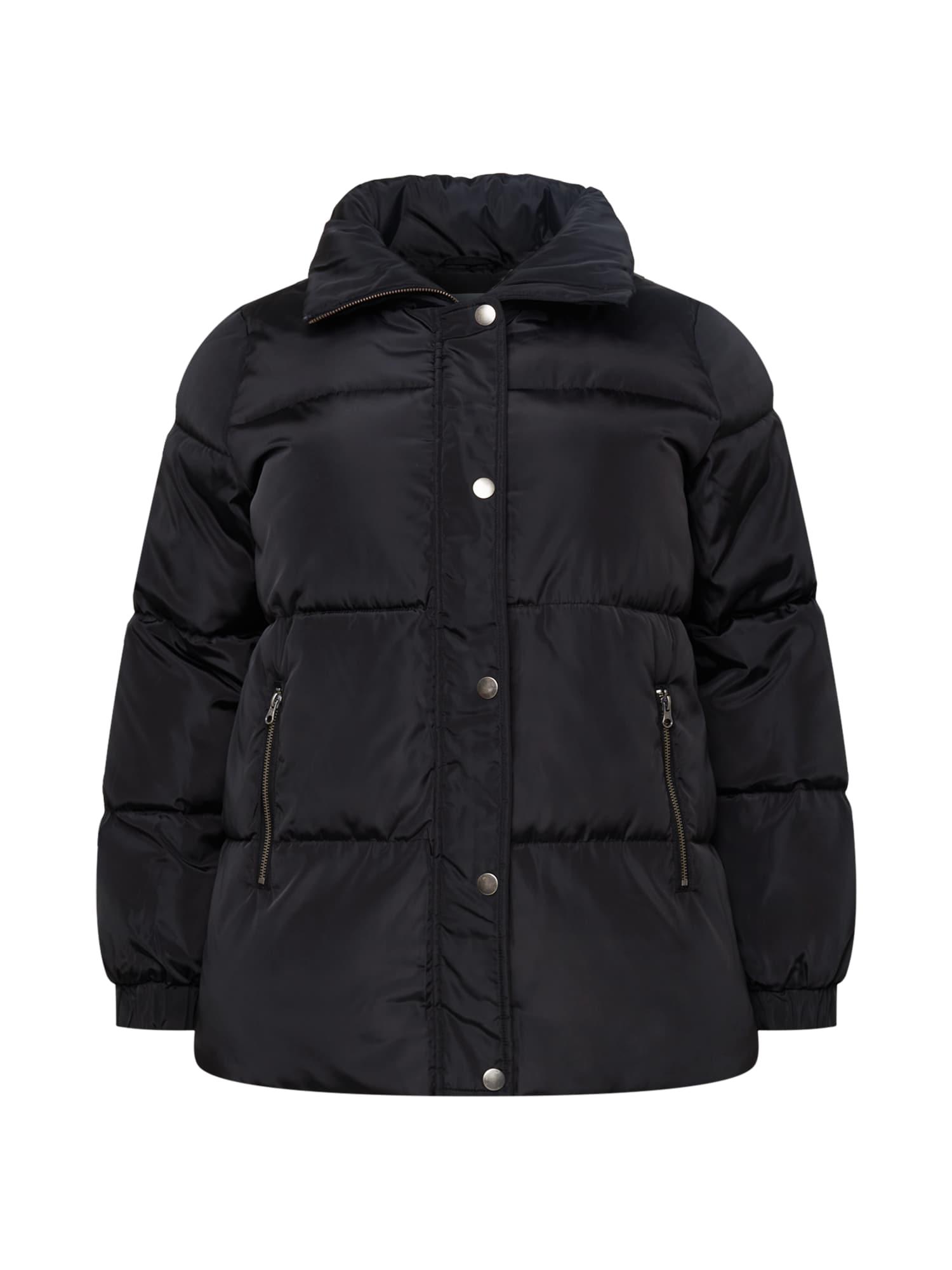 KAFFE CURVE Zimná bunda 'Lindy'  čierna.