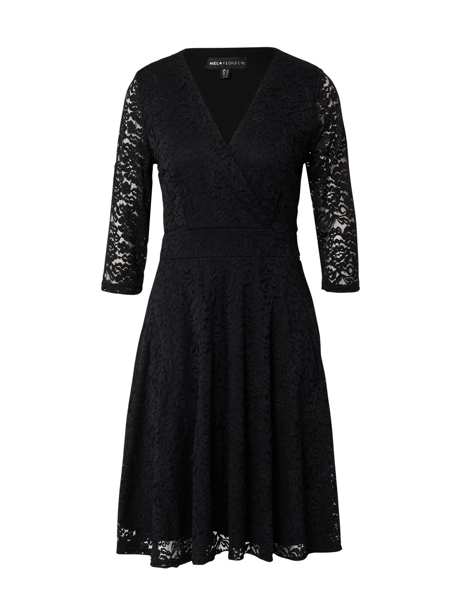 Mela London Kokteilinė suknelė juoda