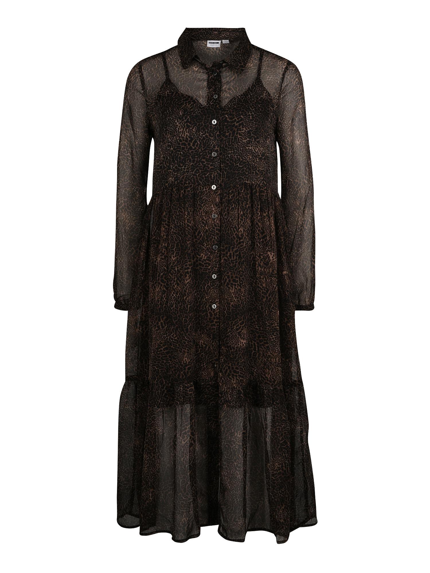 Noisy May (Tall) Palaidinės tipo suknelė juoda / ruda