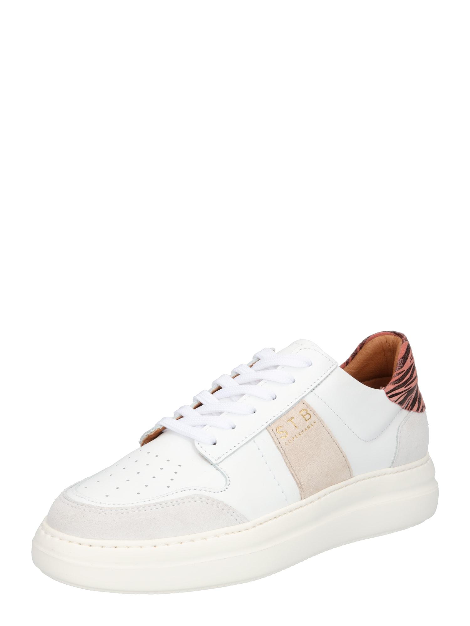 Shoe The Bear Sportbačiai be auliuko balta / pilka / smėlio / ryškiai rožinė spalva / juoda
