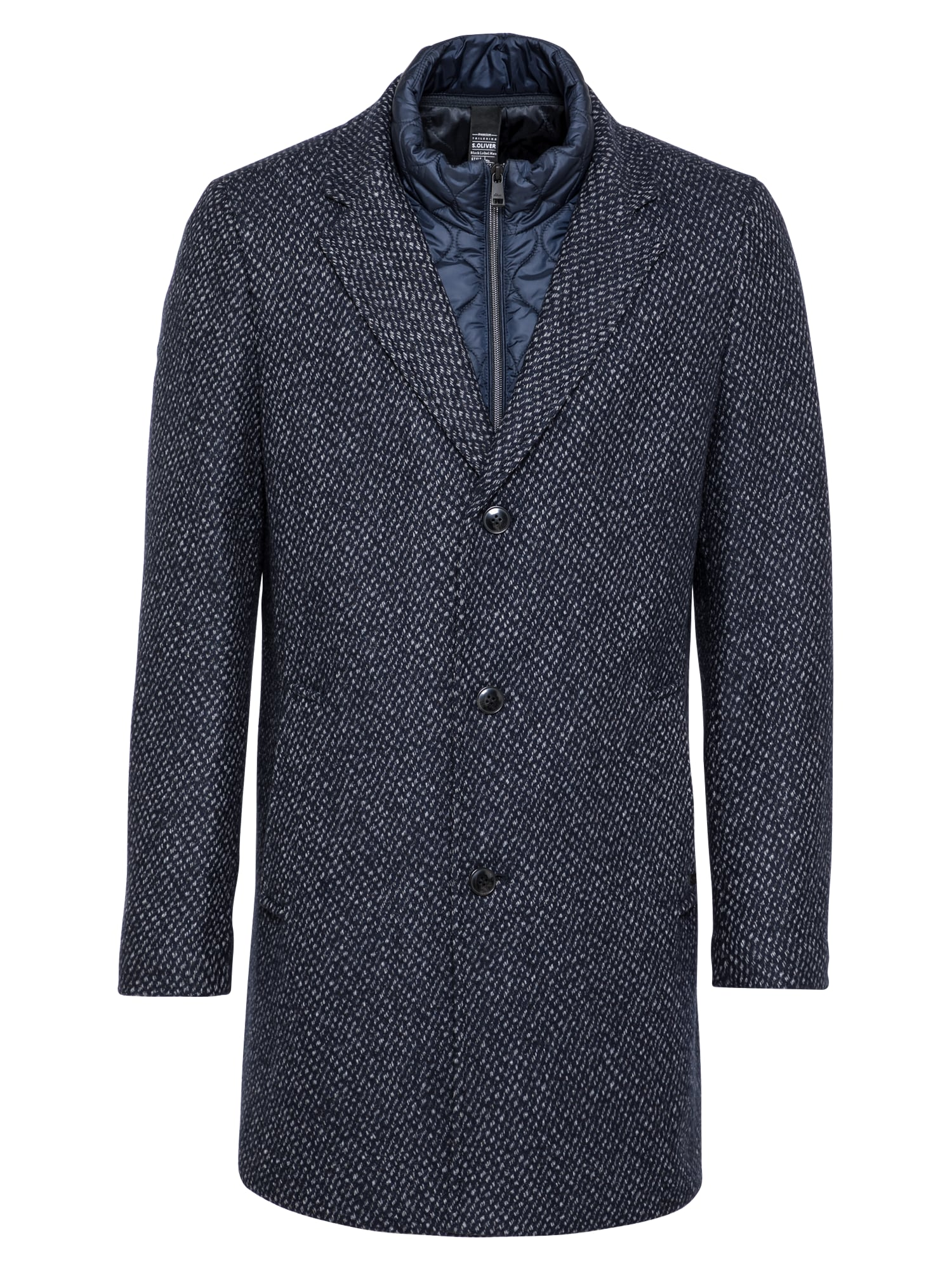 s.Oliver BLACK LABEL Demisezoninis paltas tamsiai mėlyna