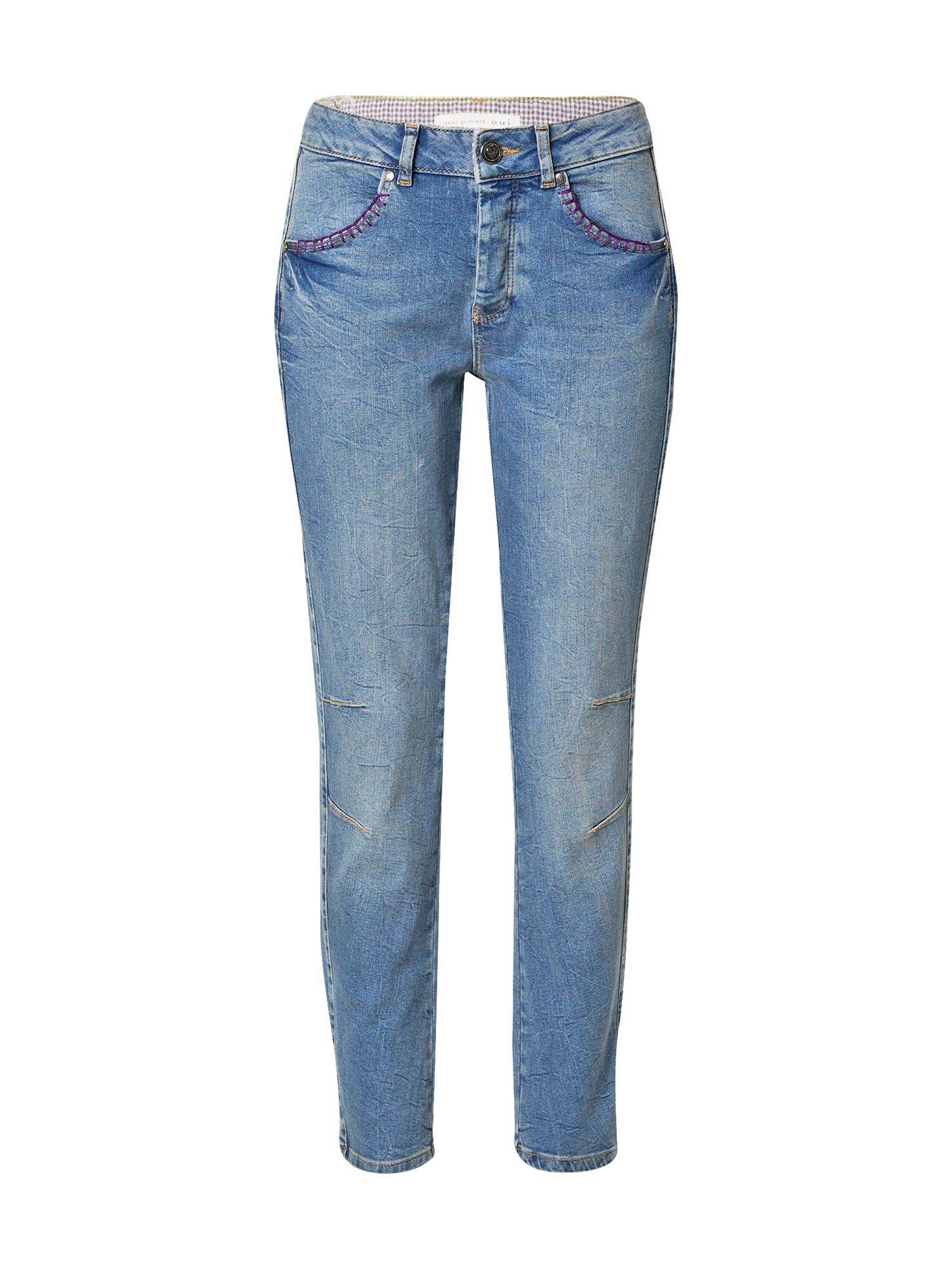 OUI Džinsai tamsiai (džinso) mėlyna