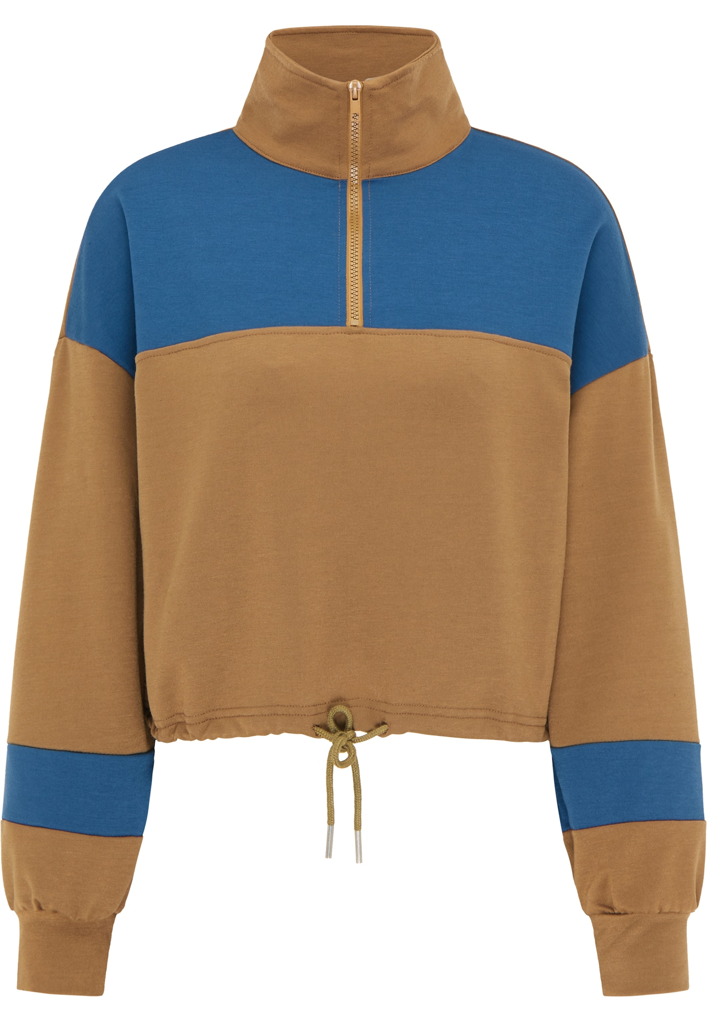 myMo ATHLSR Sportinio tipo megztinis ruda / melsvai pilka