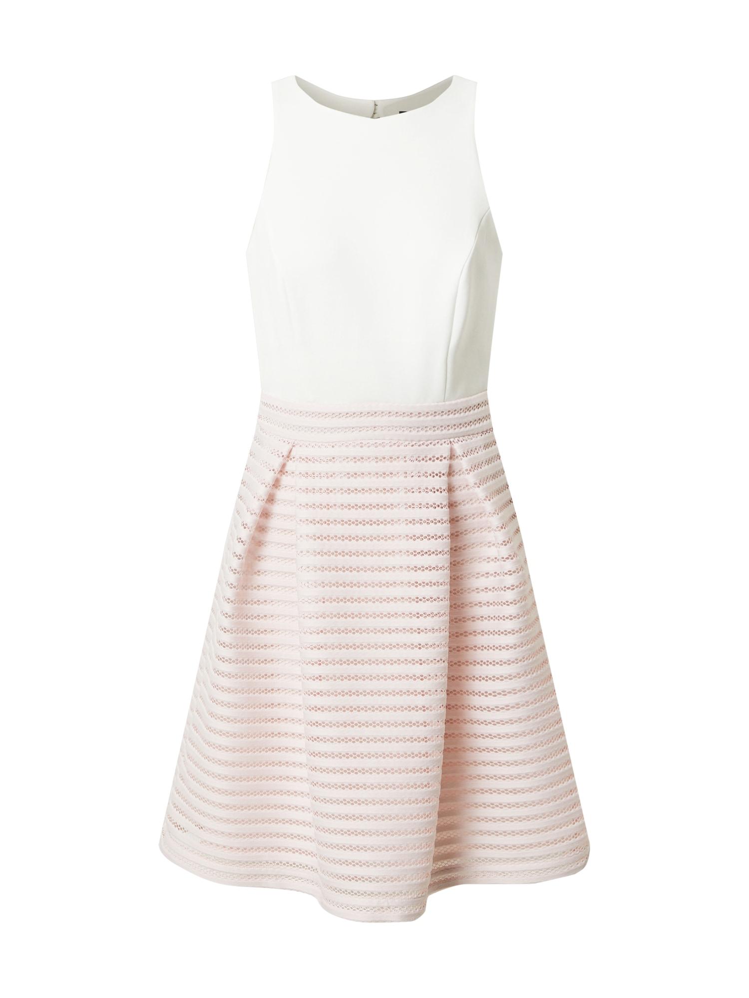 SWING Suknelė pastelinė rožinė / balta
