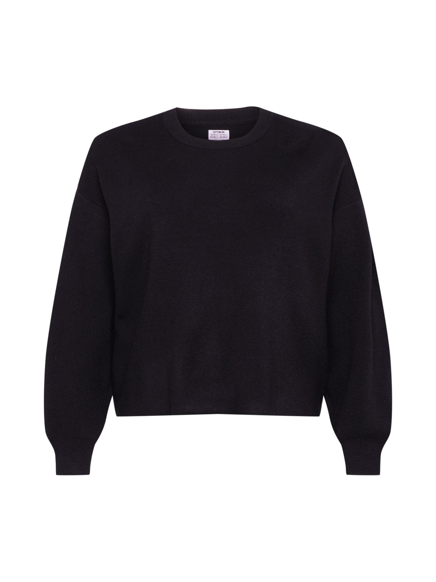 Cotton On Curve Megztinis 'CHLOE' juoda