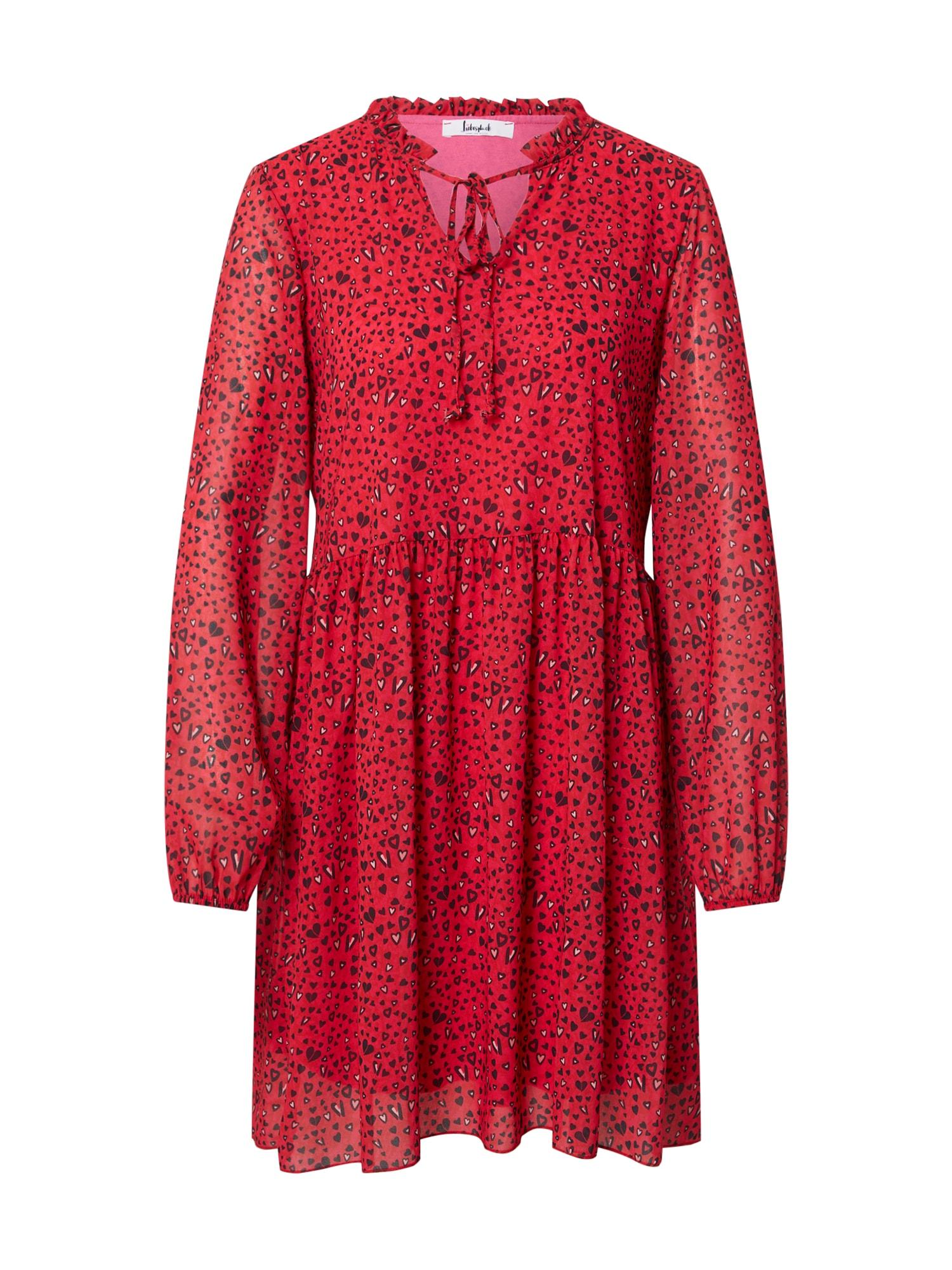 Liebesglück Palaidinės tipo suknelė juoda / raudona