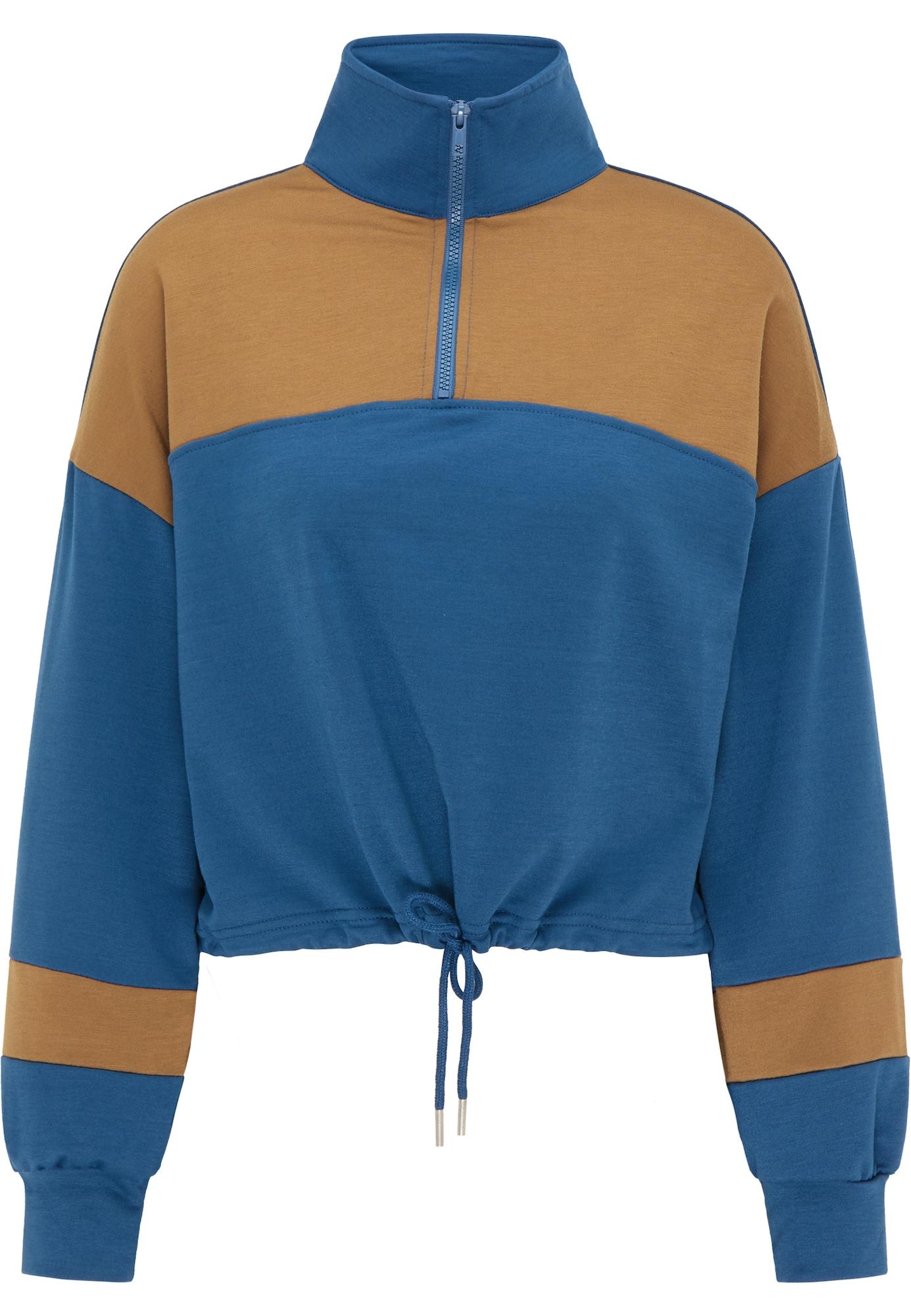 myMo ATHLSR Sportinio tipo megztinis melsvai pilka / ruda