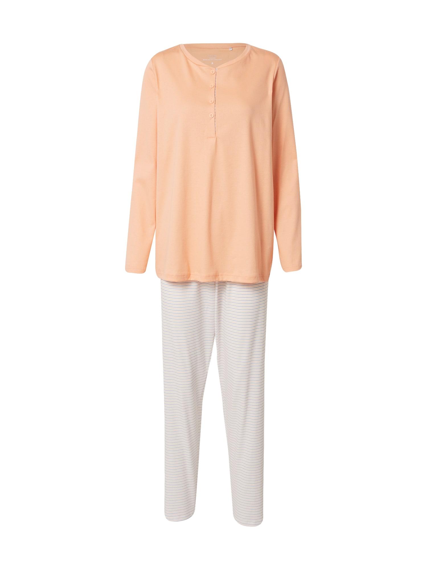 CALIDA Pyžamo  broskvová / bílá / šeříková