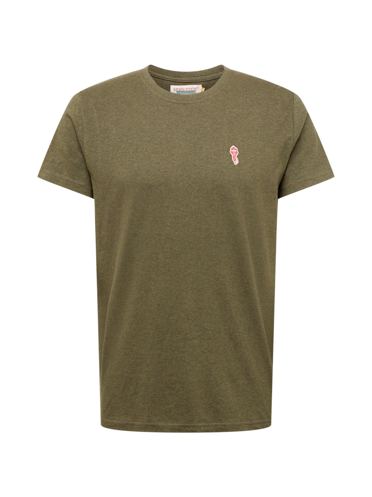 Revolution Marškinėliai alyvuogių spalva