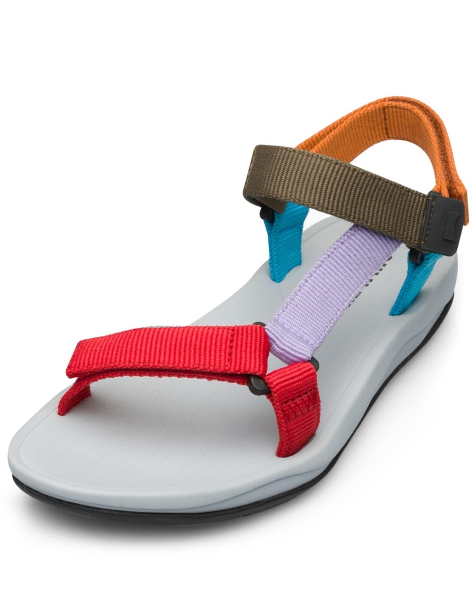 CAMPER Sportinio tipo sandalai raudona / šviesiai violetinė / rusvai žalia / oranžinė / dangaus žydra