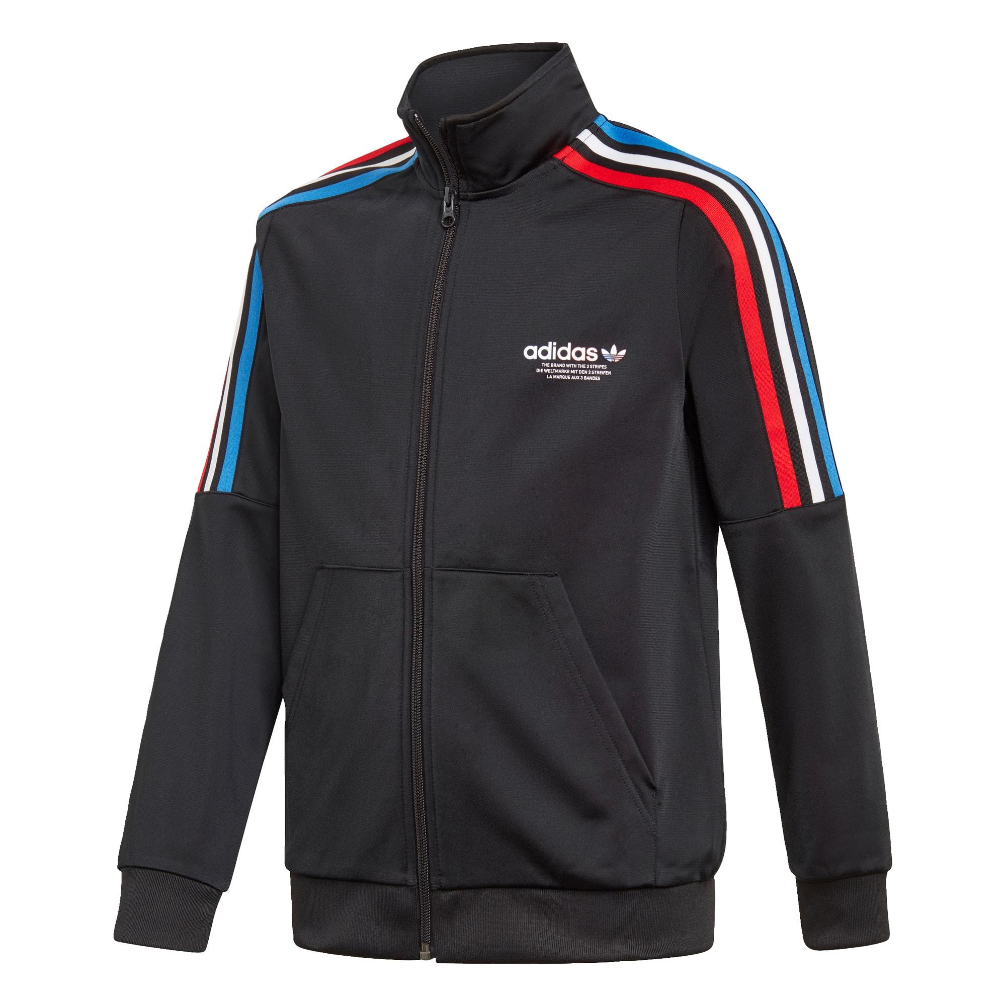 ADIDAS ORIGINALS Džemperis juoda / balta / šviesiai raudona / dangaus žydra