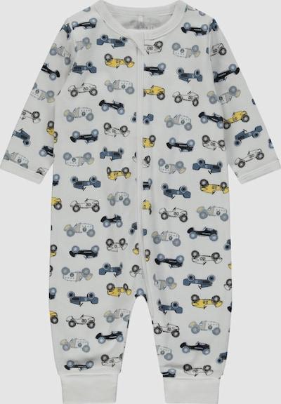 Name It Baby Langarm-Schlafanzug in Taubenblau mit Reißverschluss 2er-Pack