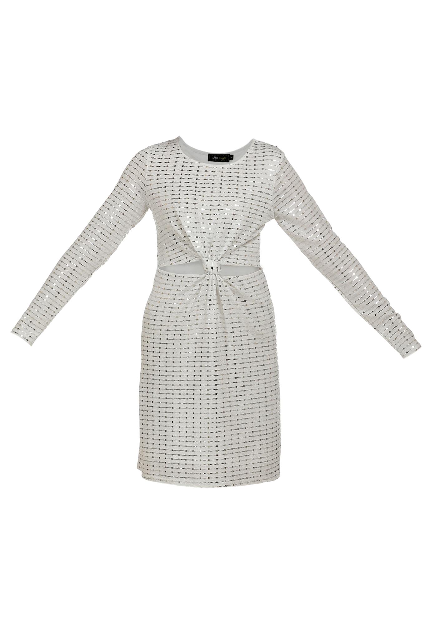 myMo at night Kokteilinė suknelė sidabrinė / balta