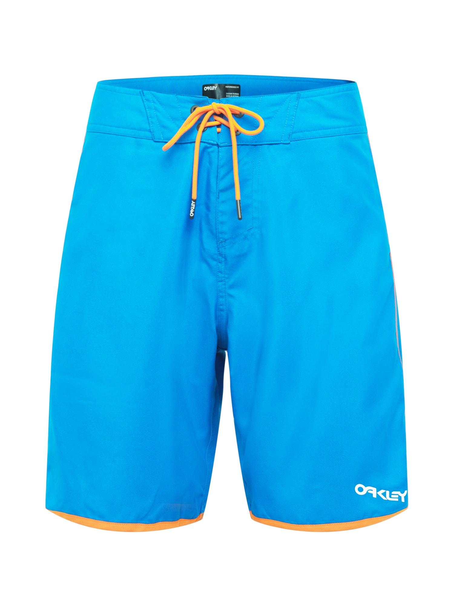 OAKLEY Maudymosi šortai neoninė mėlyna / oranžinė