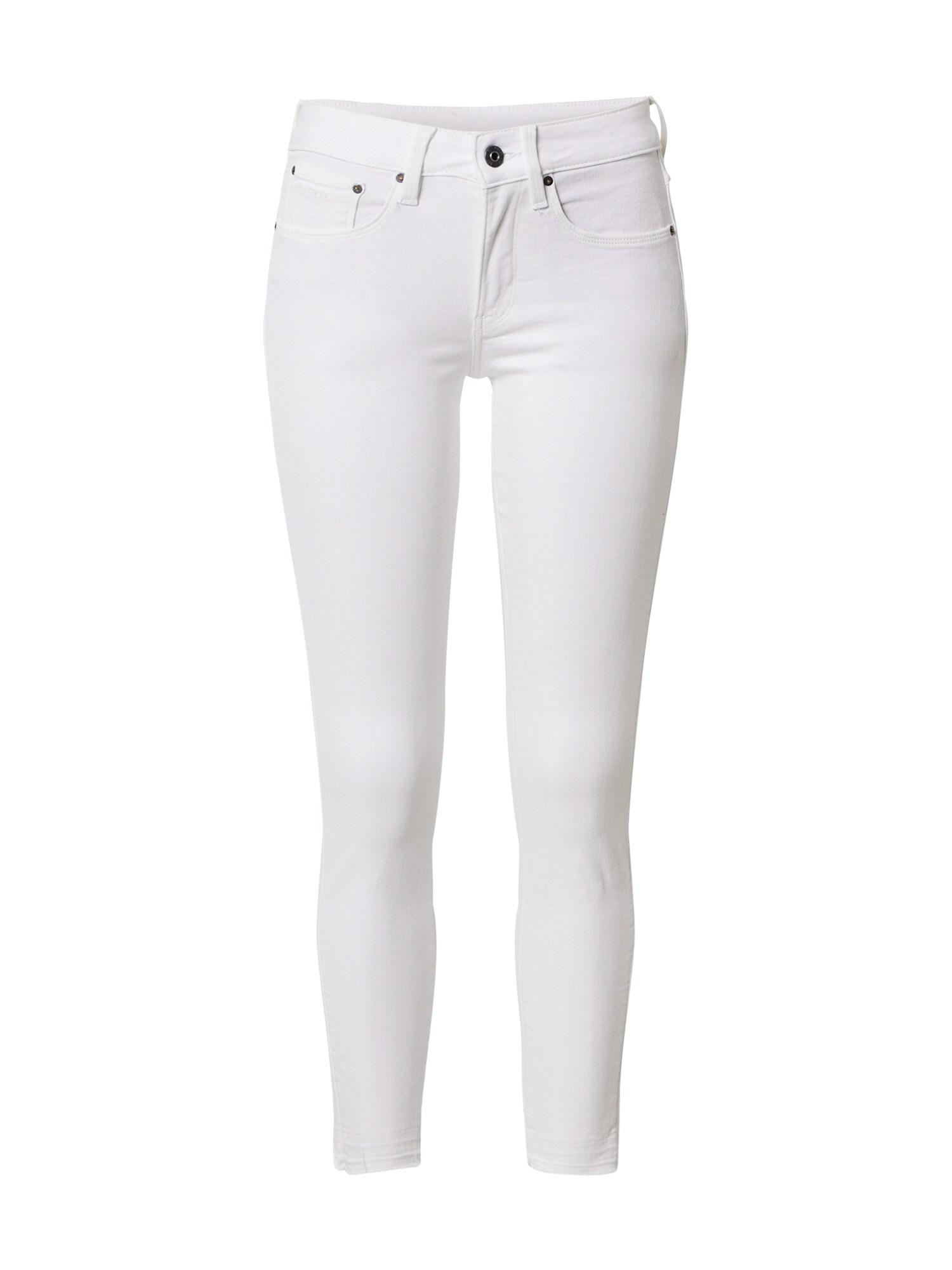 G-Star RAW Džinsai balto džinso spalva