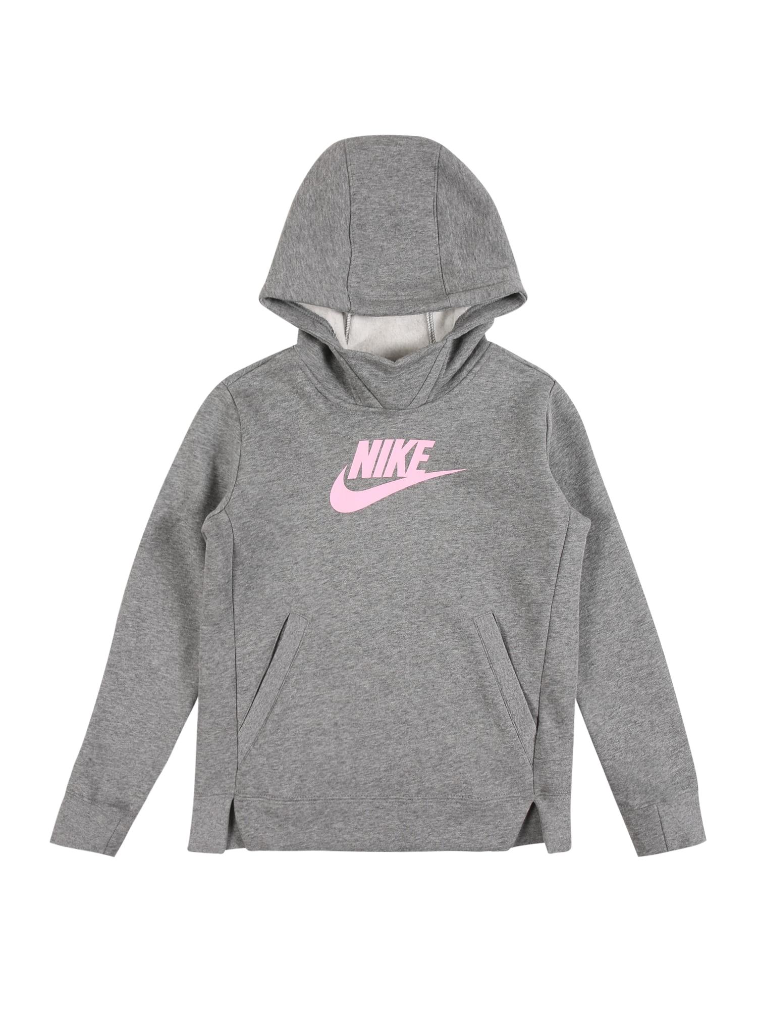 Nike Sportswear Megztinis be užsegimo pilka / rožinė