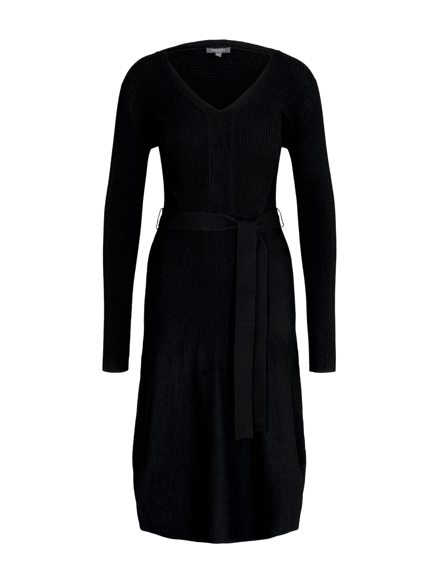 MINE TO FIVE Megzta suknelė juoda