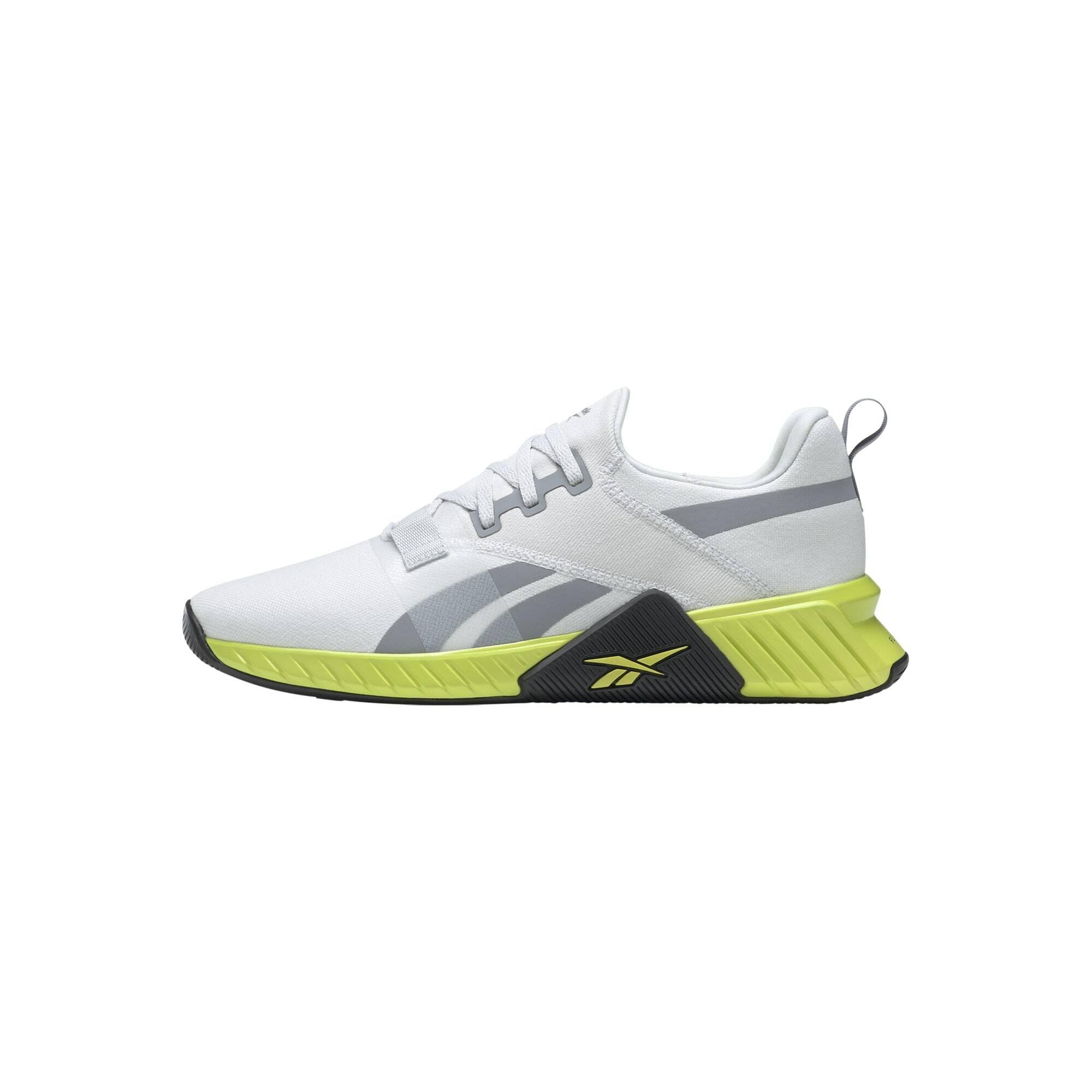 Reebok Sport Bėgimo batai balta / sidabro pilka / neoninė žalia