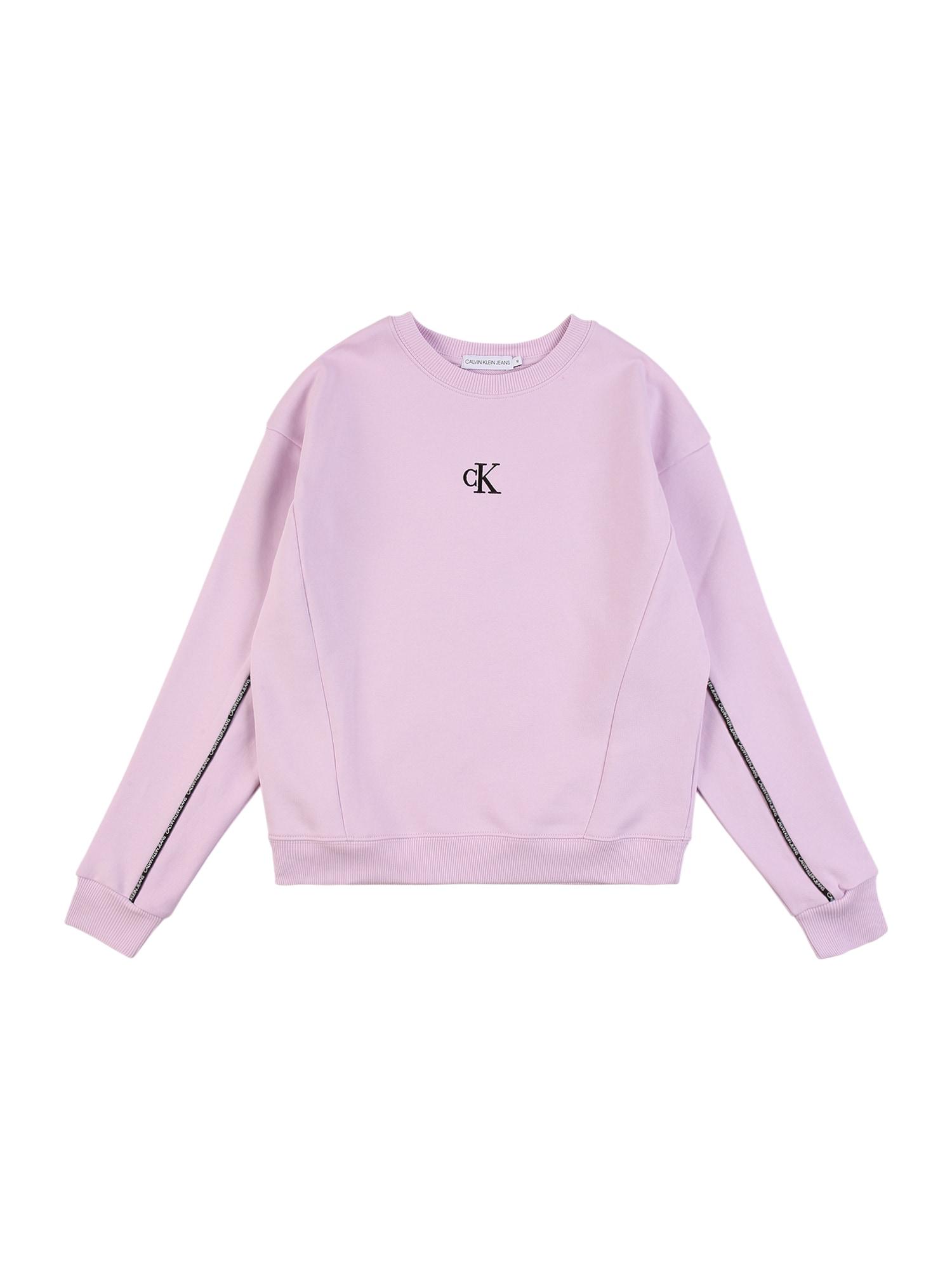 Calvin Klein Jeans Megztinis be užsegimo rožių spalva / juoda