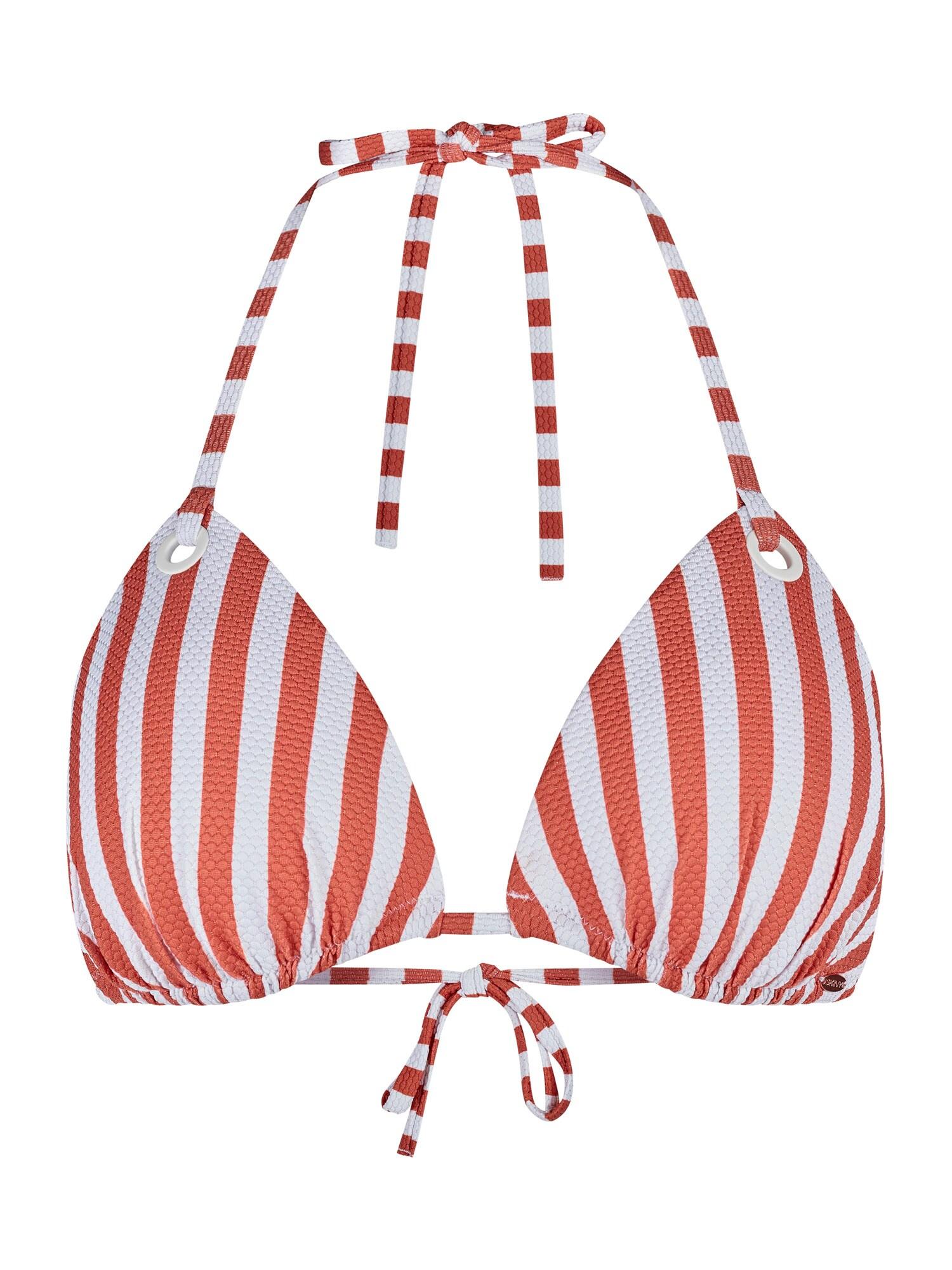 Skiny Bikinio viršutinė dalis rusvai oranžinė / balta
