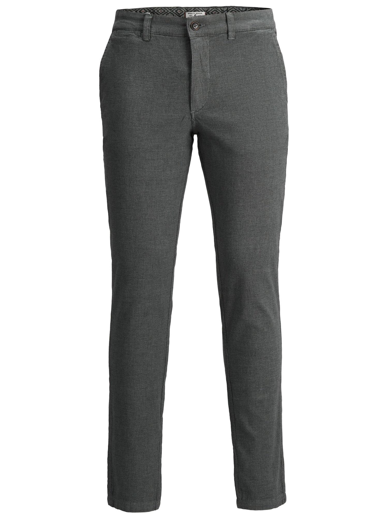 JACK & JONES Chino kalhoty  šedá
