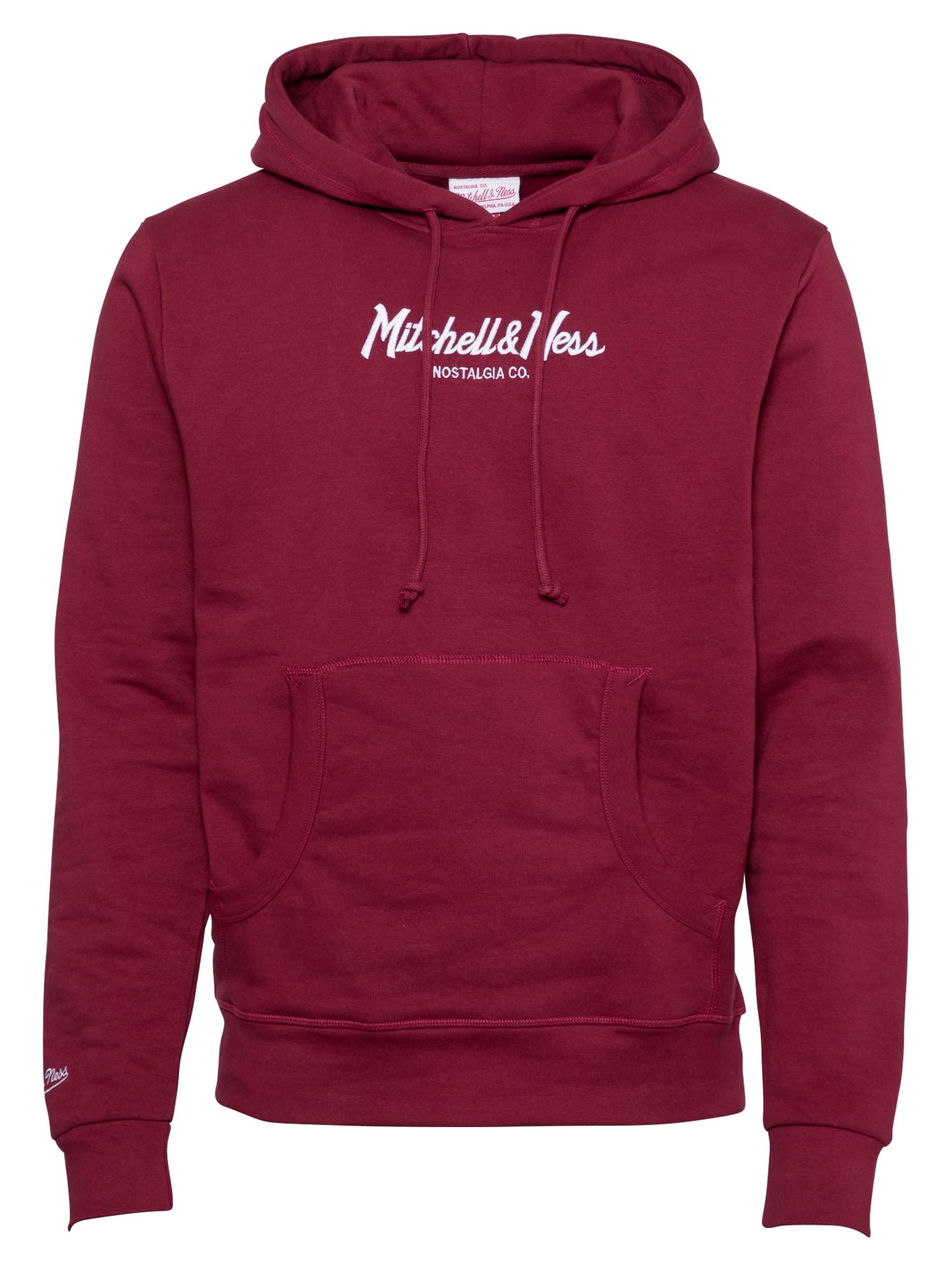 Mitchell & Ness Megztinis be užsegimo burgundiško vyno spalva / balta