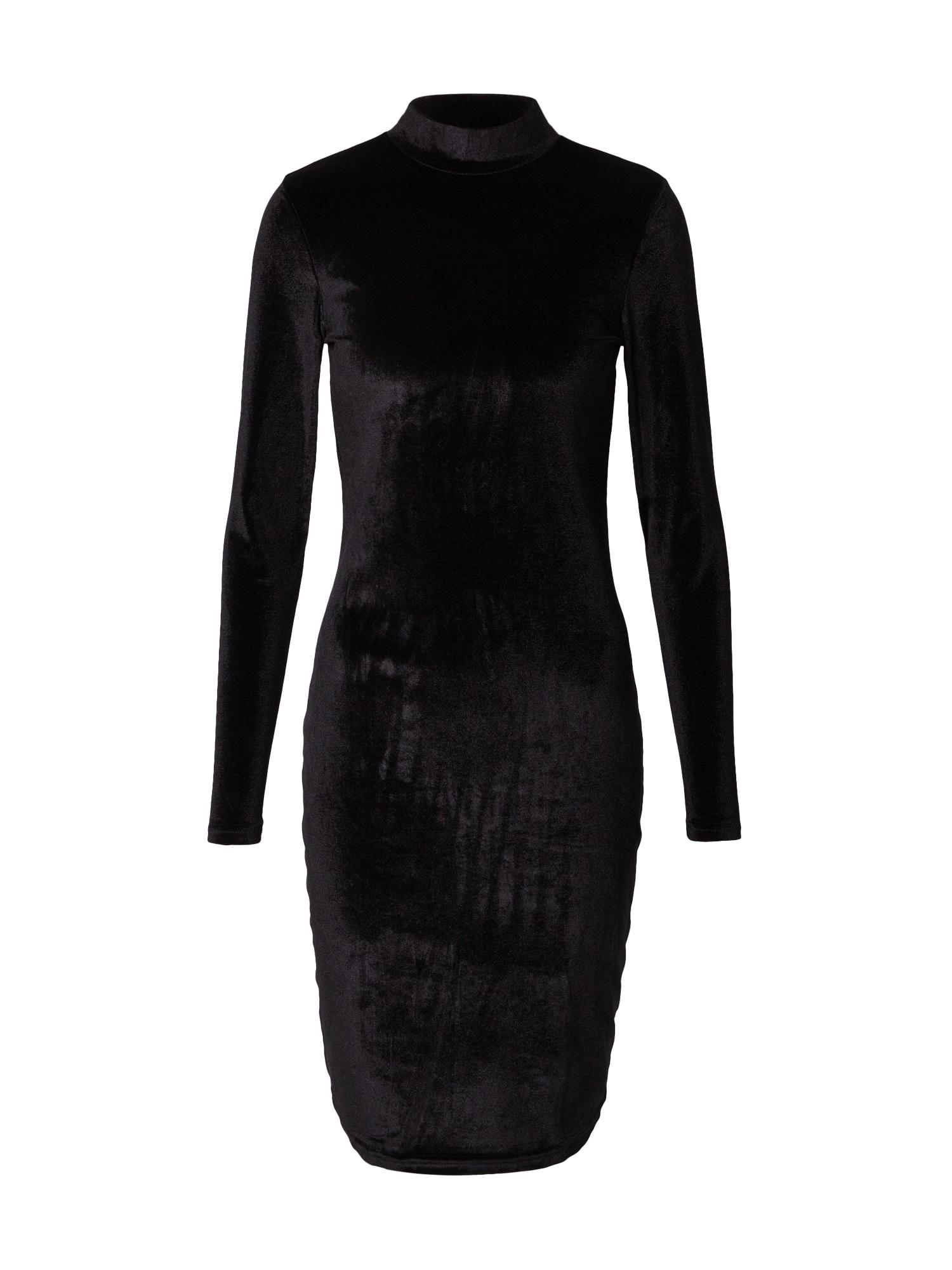 Urban Classics Koktejlové šaty  černá