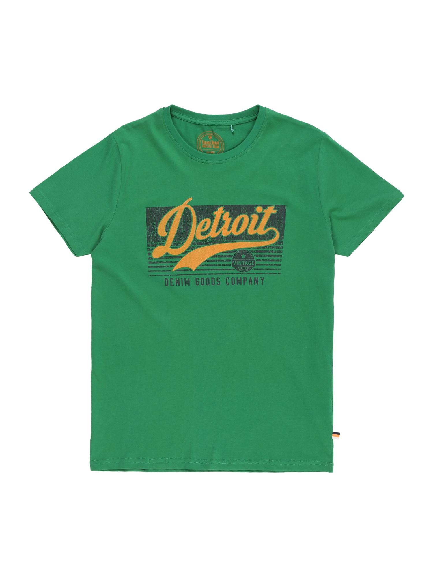 LEMON BERET Tričko  světle zelená / zlatě žlutá / grafitová