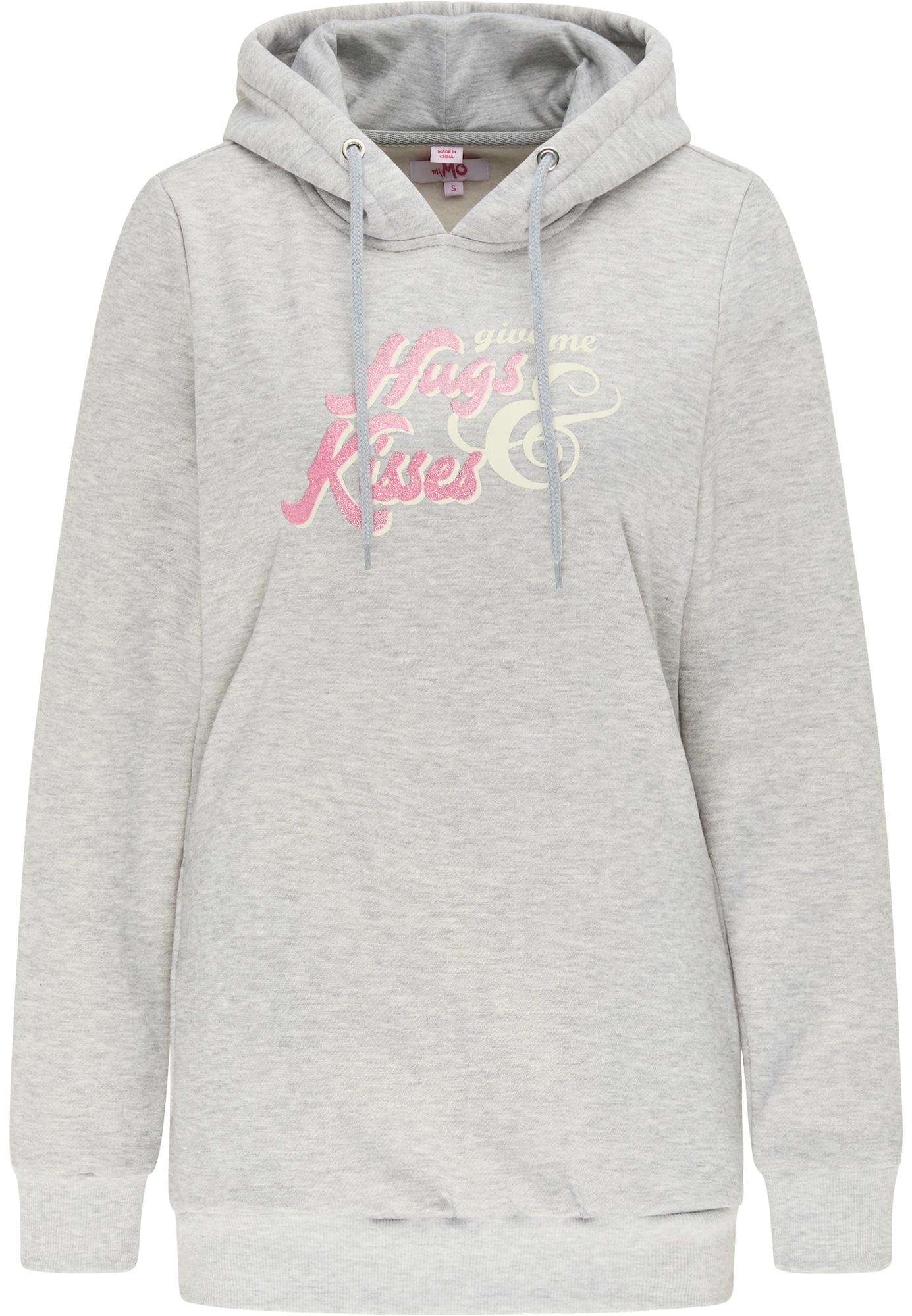 MYMO Megztinis be užsegimo rožinė / balta / šviesiai pilka