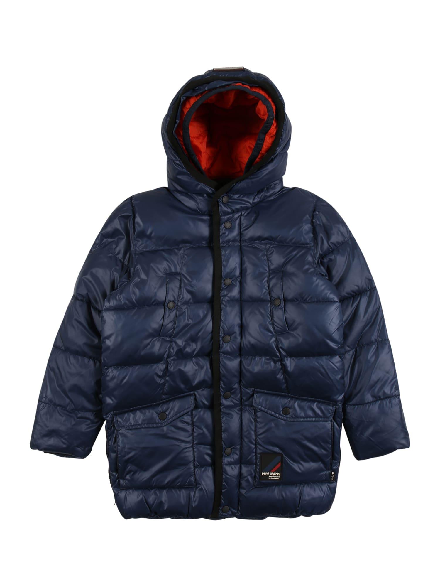 Pepe Jeans Zimní bunda 'Gage'  námořnická modř / světle červená / černá