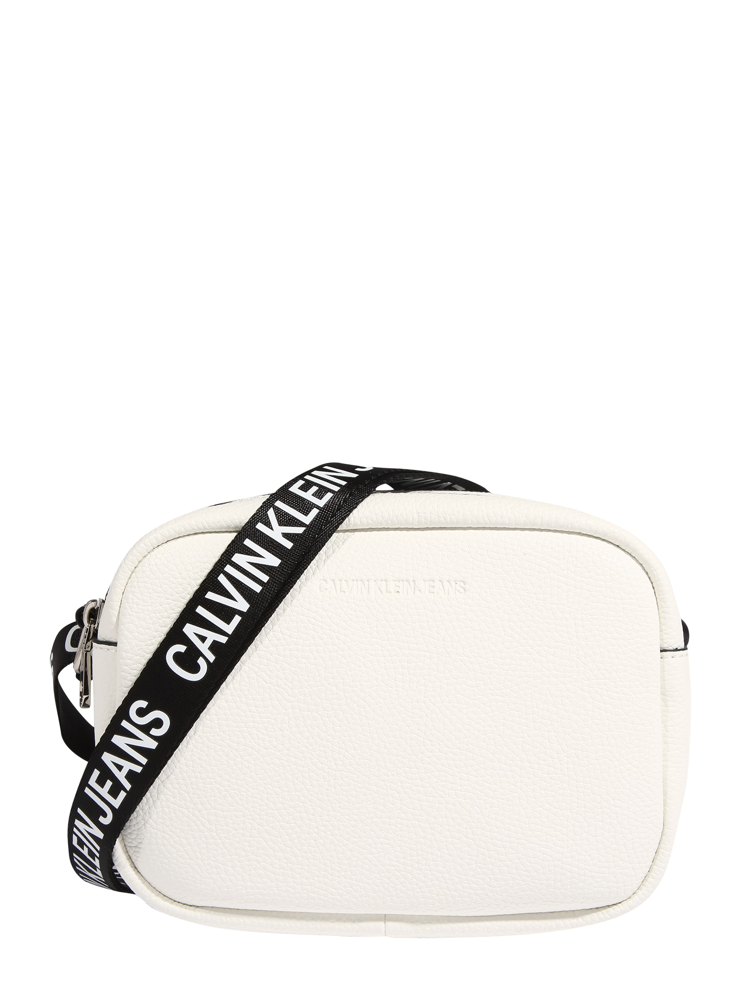 Calvin Klein Jeans Taška přes rameno  bílá / černá