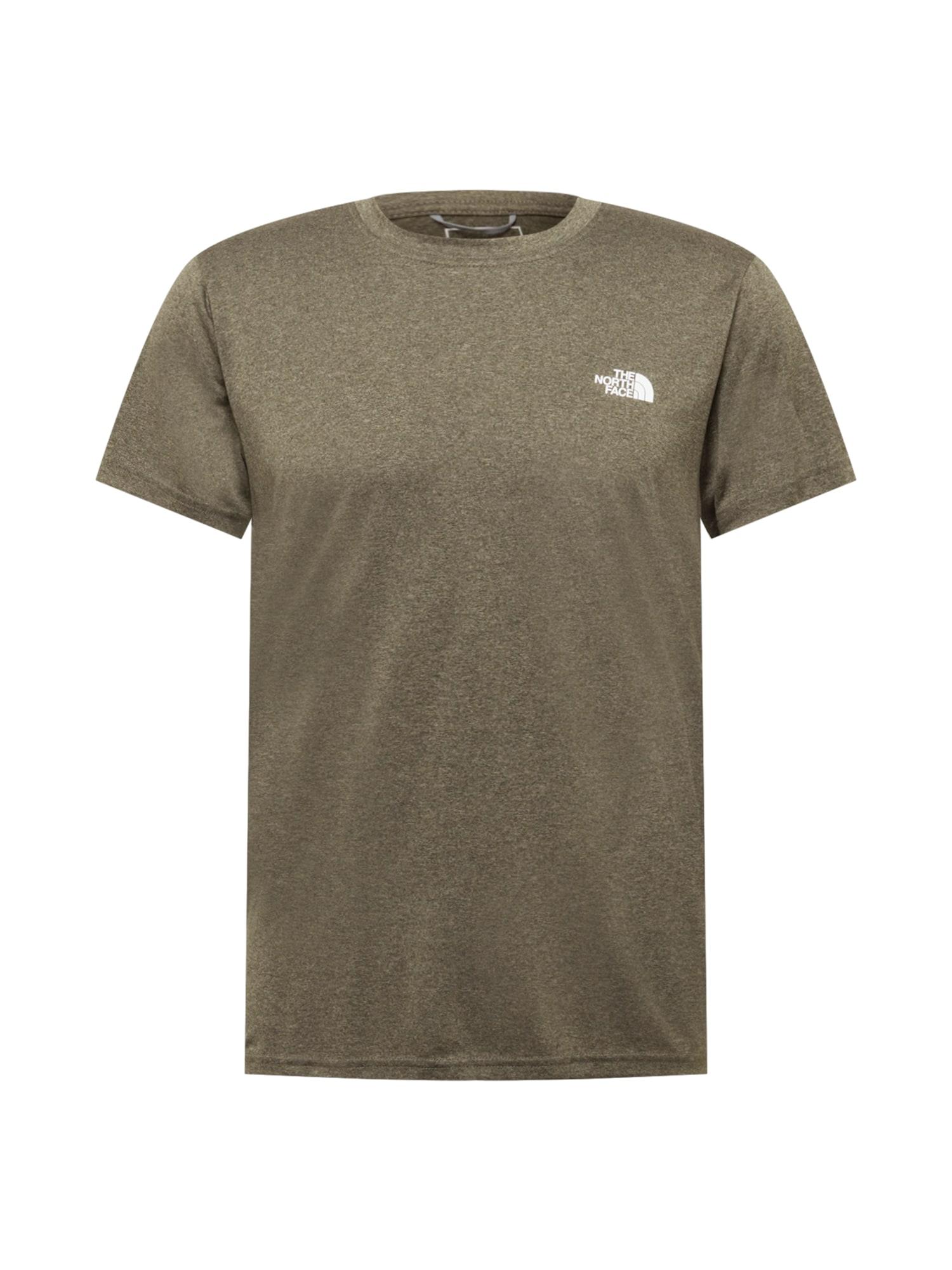 THE NORTH FACE Funkční tričko  zelená / bílá