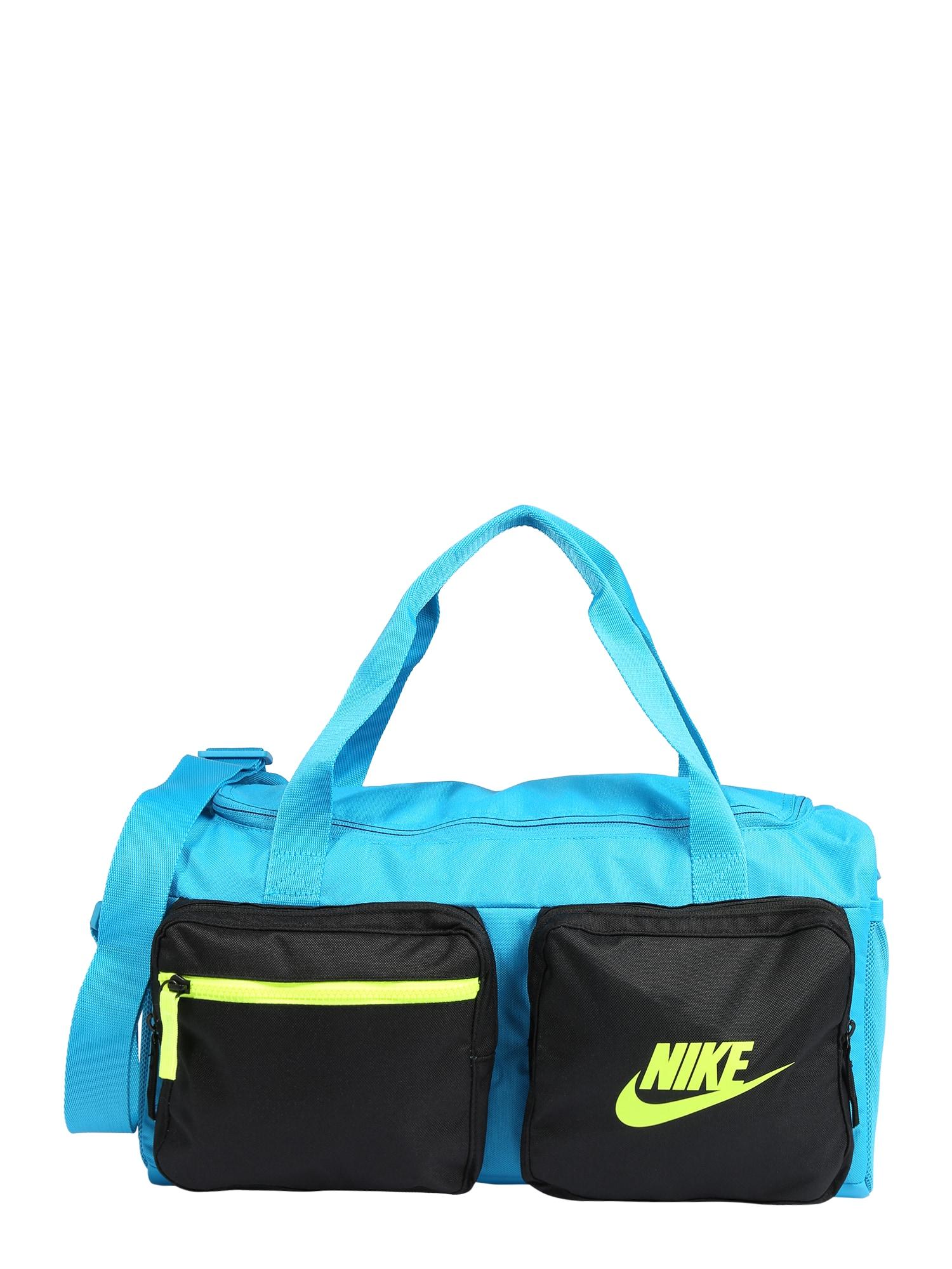 NIKE Sportinis krepšys 'Future' neoninė žalia / juoda / turkio spalva