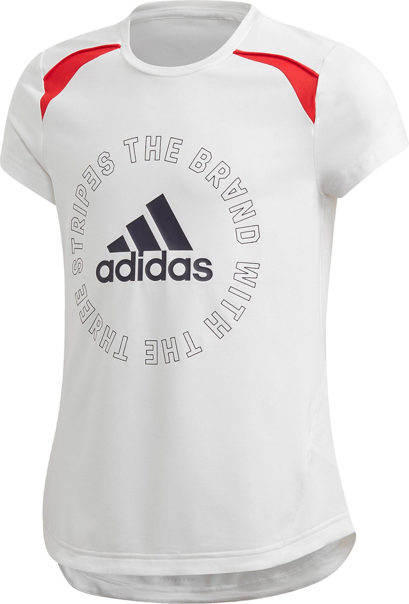 ADIDAS PERFORMANCE Sportiniai marškinėliai pilka / balta / raudona / juoda