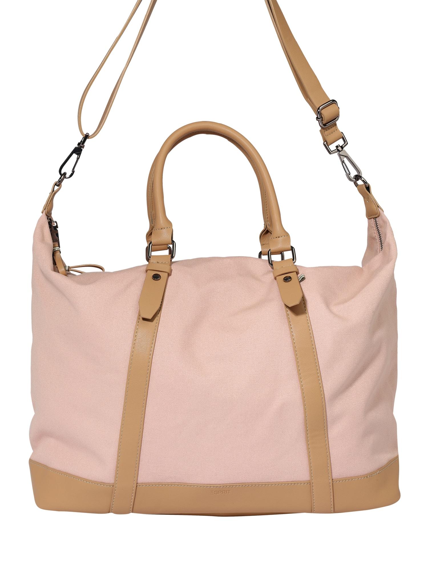 ESPRIT Kelioninis krepšys gelsvai pilka spalva / pastelinė rožinė