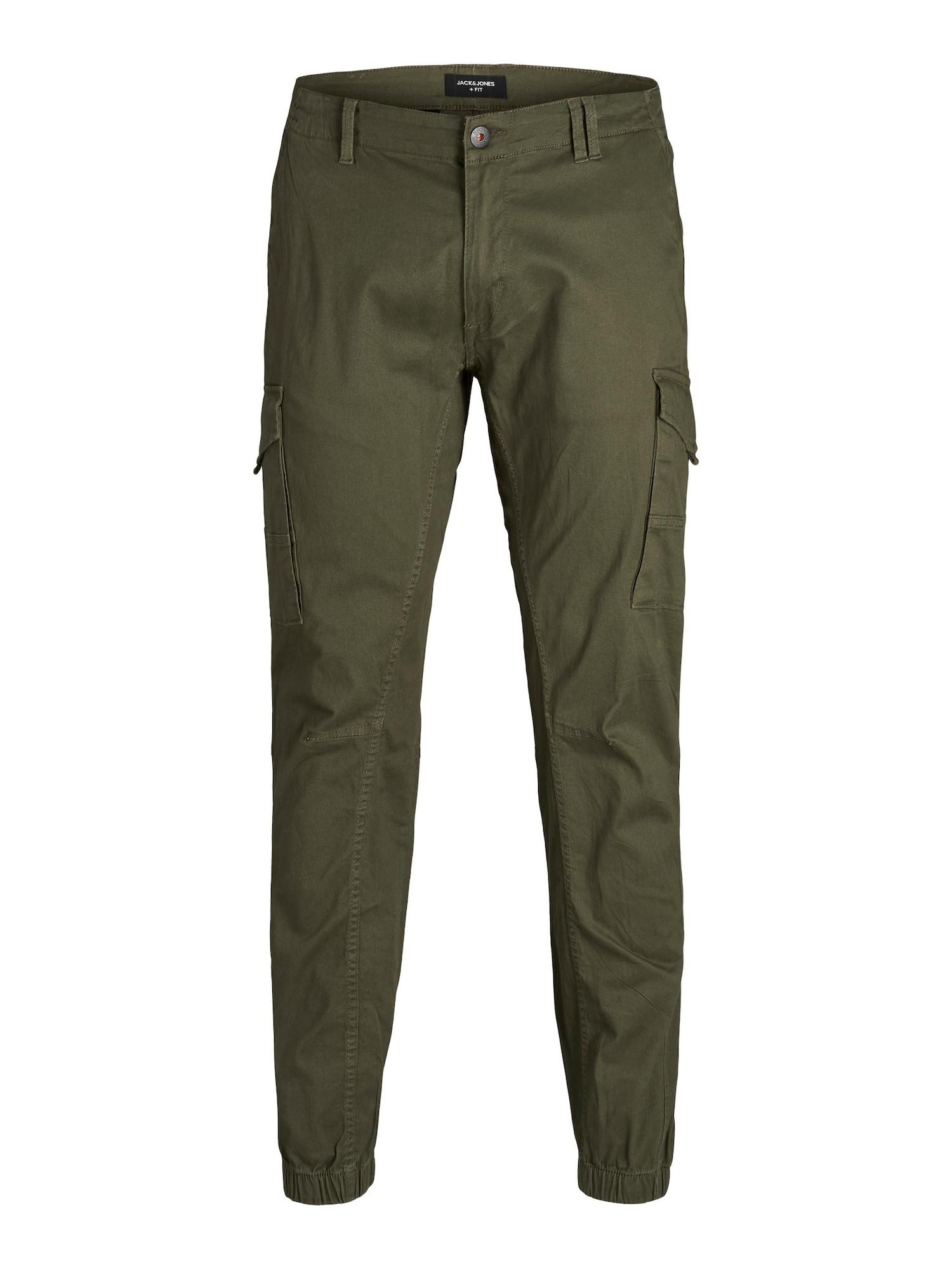 Jack & Jones Plus Laisvo stiliaus kelnės žalia