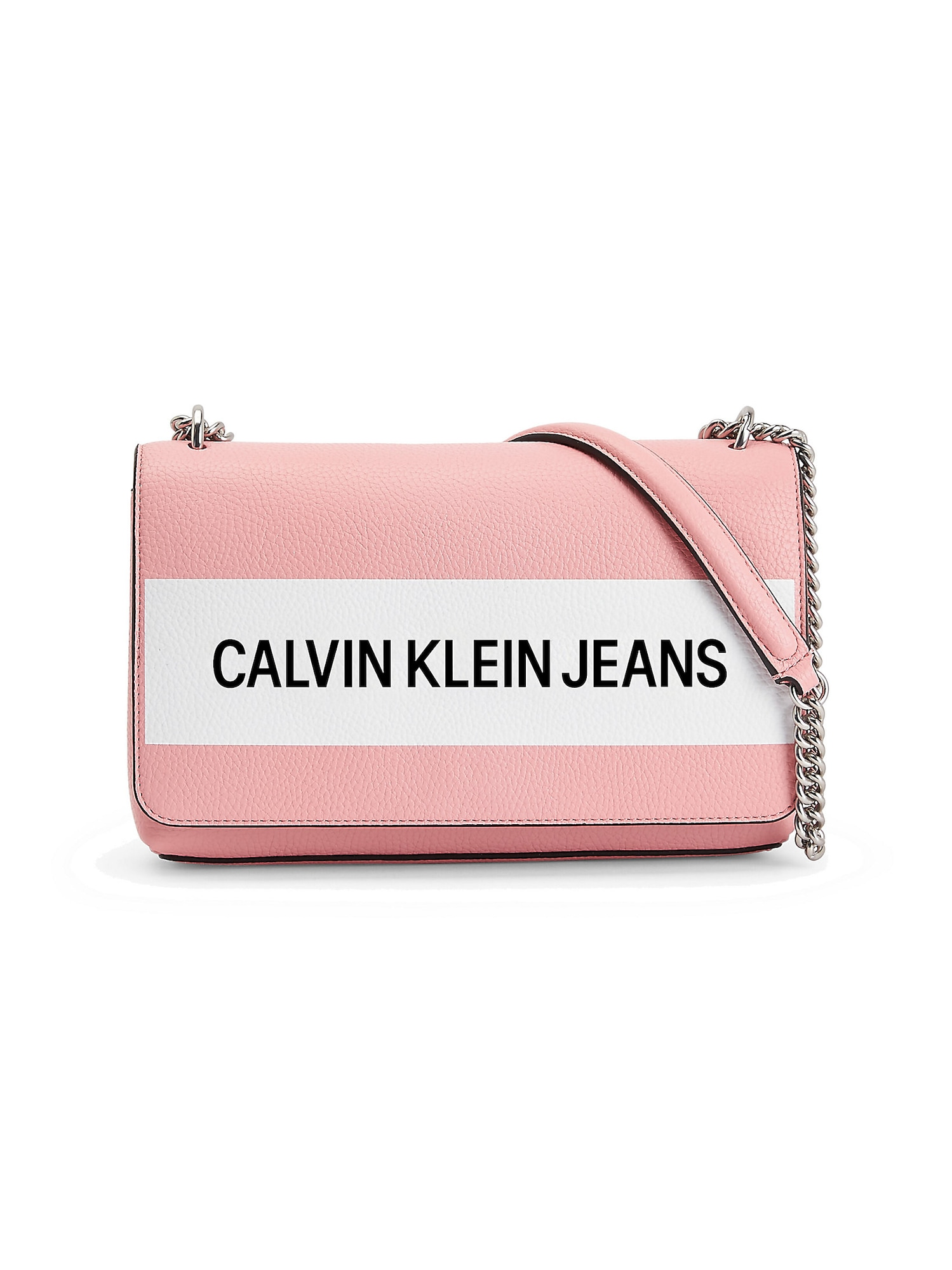 Calvin Klein Jeans Rankinė su ilgu dirželiu rožinė / balta / juoda