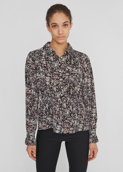 Noisy May Wanda Langärmeliges Hemd mit Motiv und Rüschenbündchen