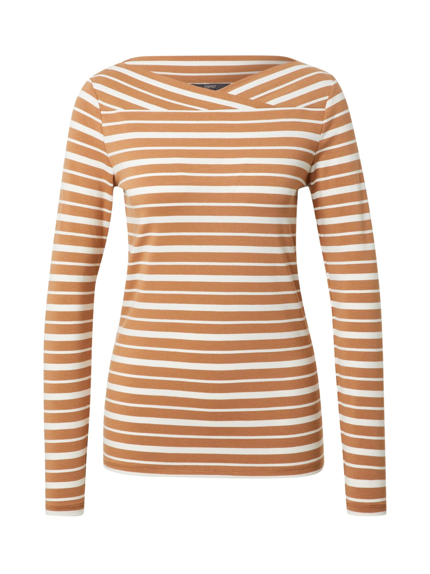 Esprit Collection Marškinėliai karamelės / balta