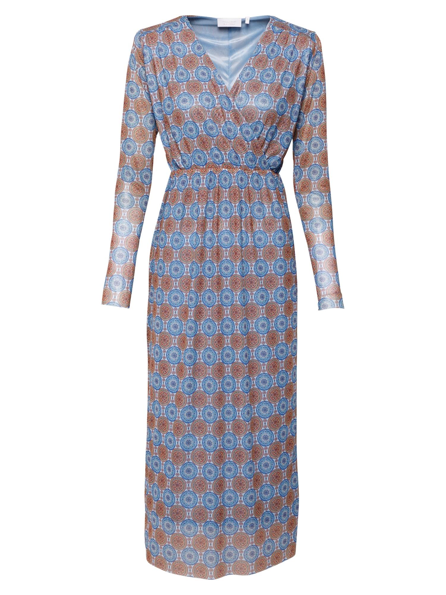 Rich & Royal Šaty  světlemodrá / modrá / hnědá