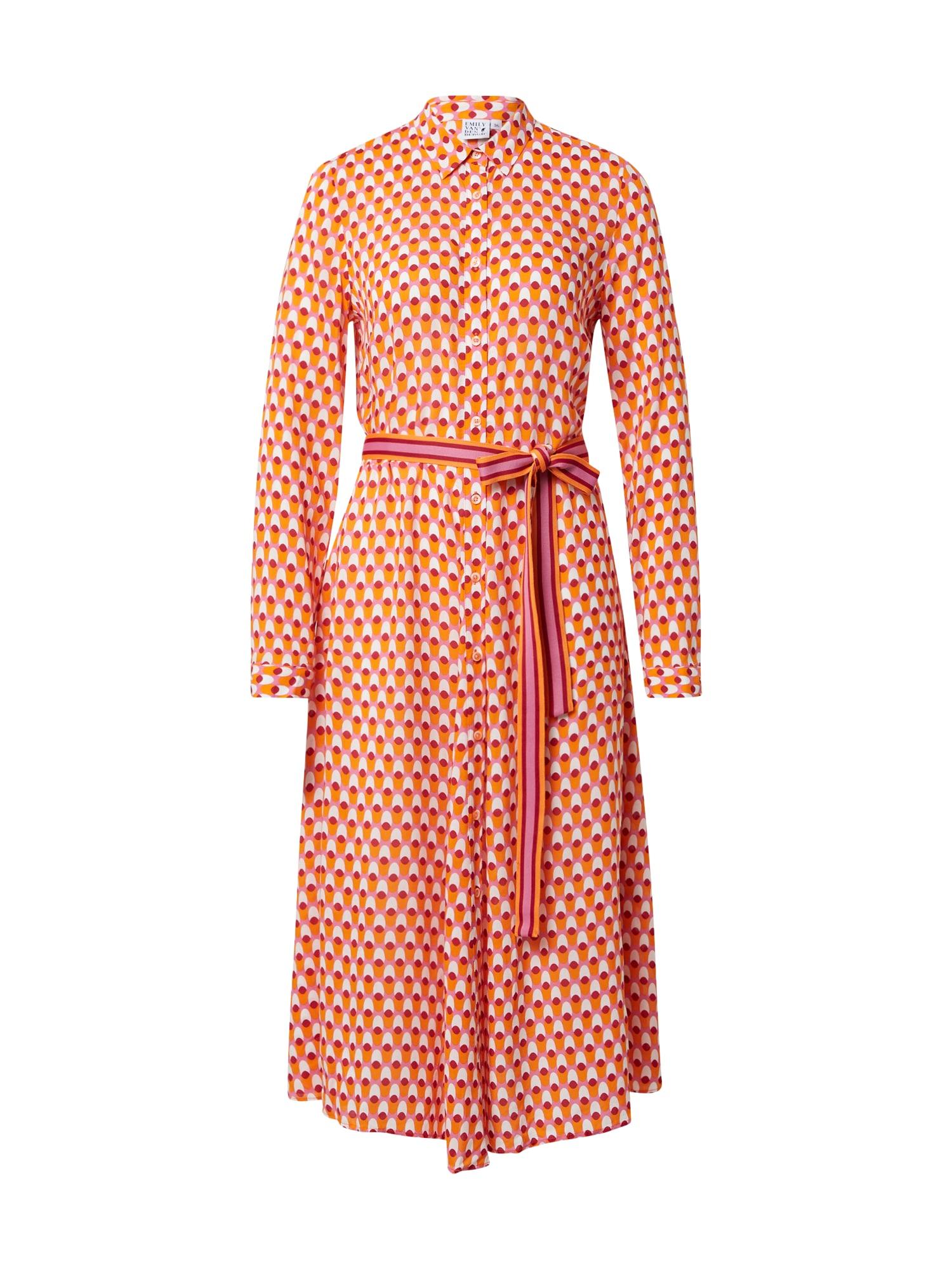 Emily Van Den Bergh Palaidinės tipo suknelė šviesiai rožinė / pitajų spalva / šviesiai oranžinė / balta