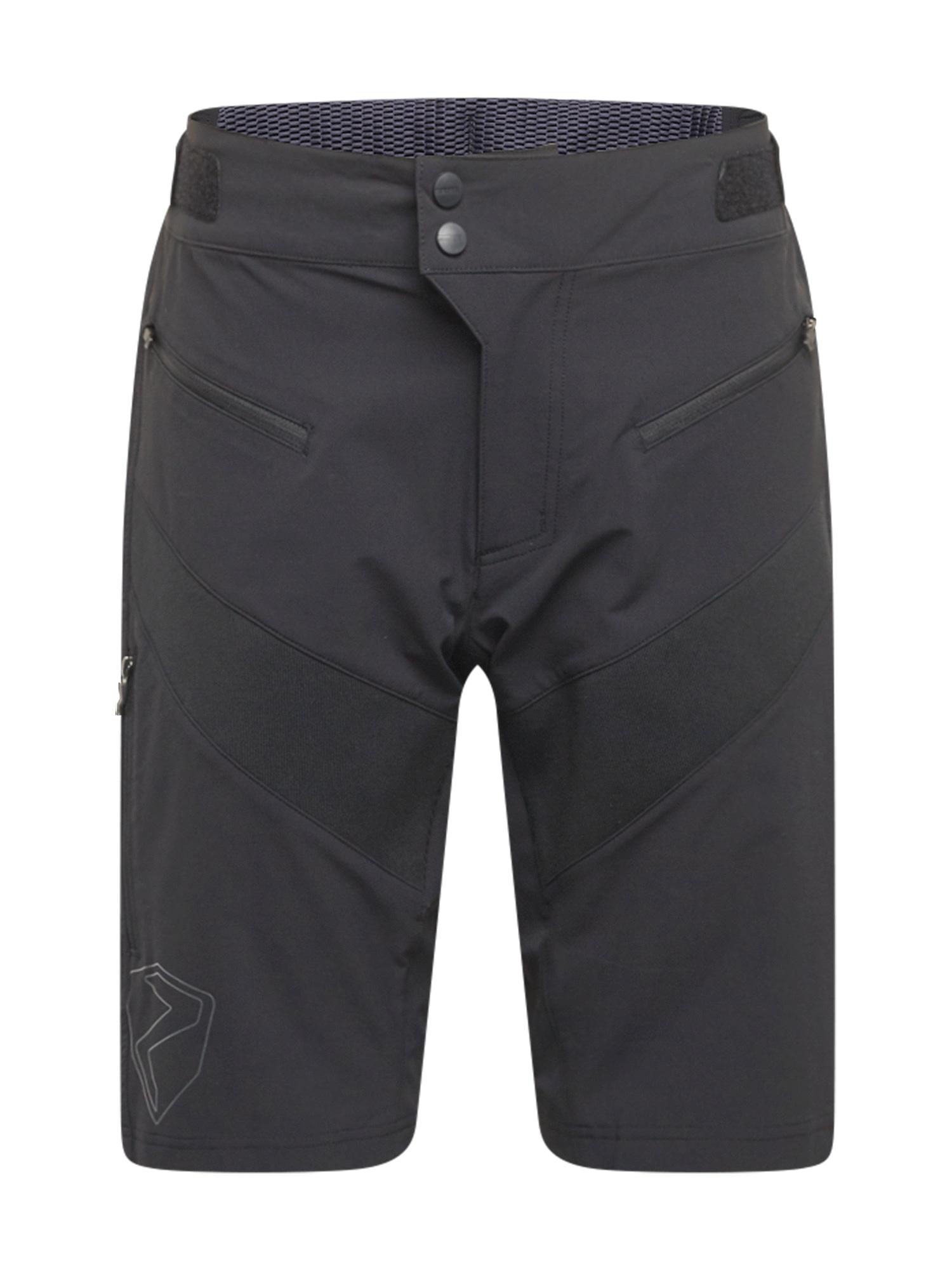 ZIENER Outdoorové kalhoty  černá / bílá