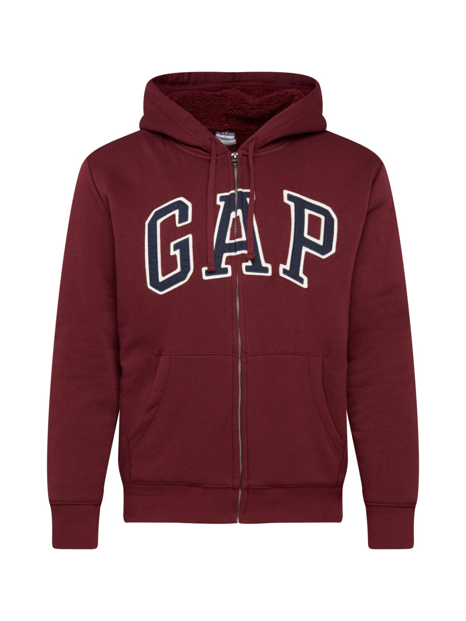 GAP Džemperis rubinų raudona / tamsiai mėlyna / balta
