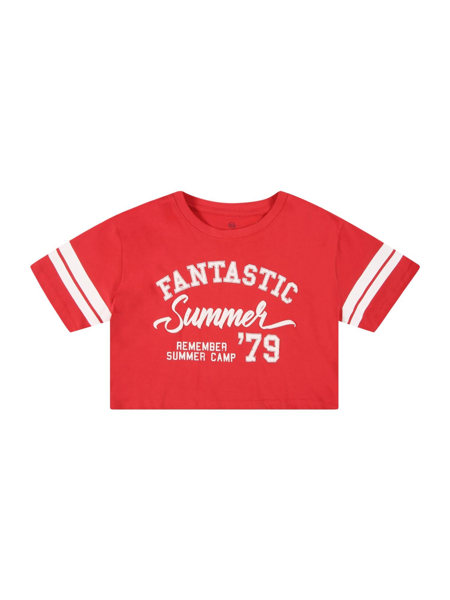 LEMON BERET Marškinėliai raudona / balta