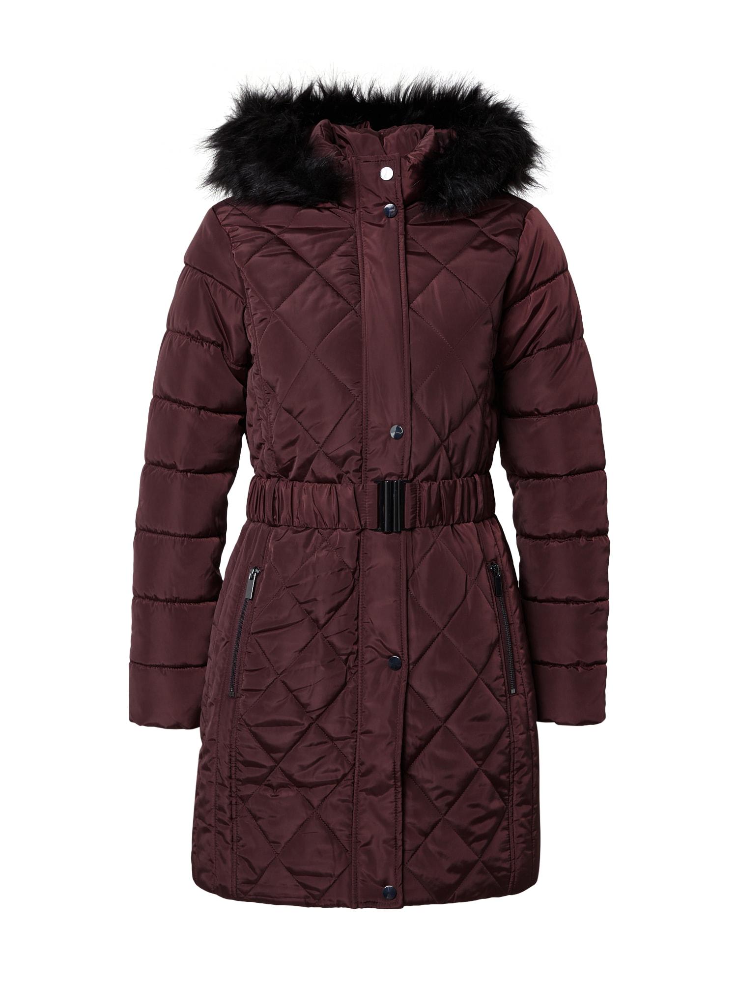 Dorothy Perkins Žieminis paltas vyno raudona spalva