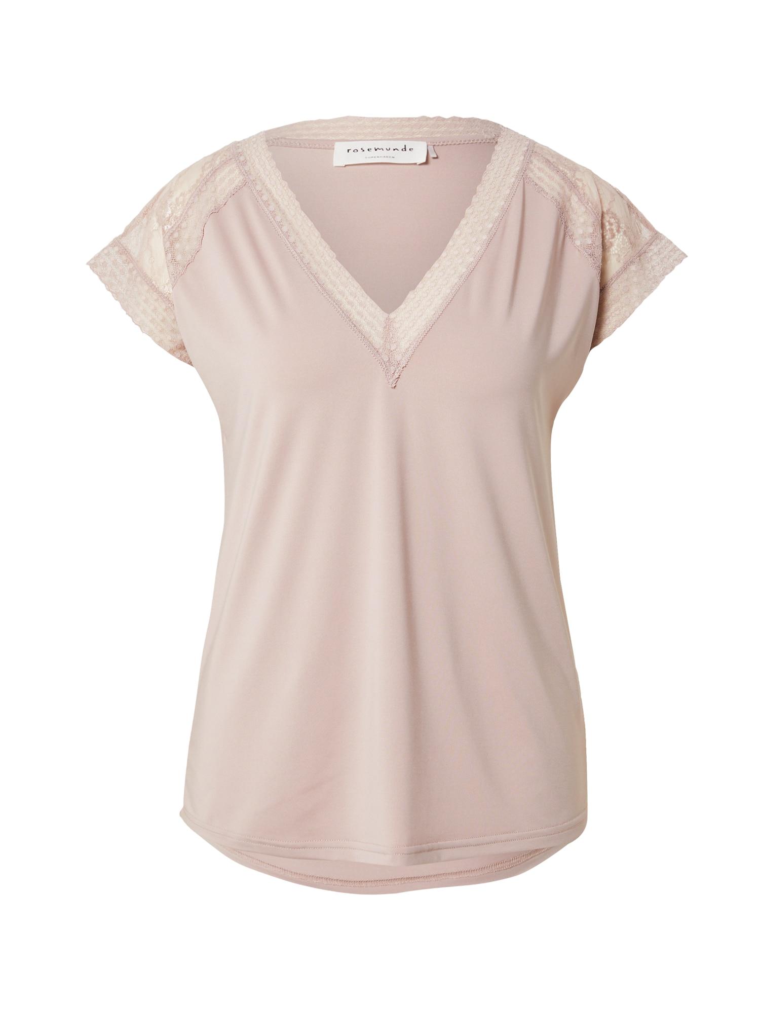 rosemunde Marškinėliai pastelinė rožinė