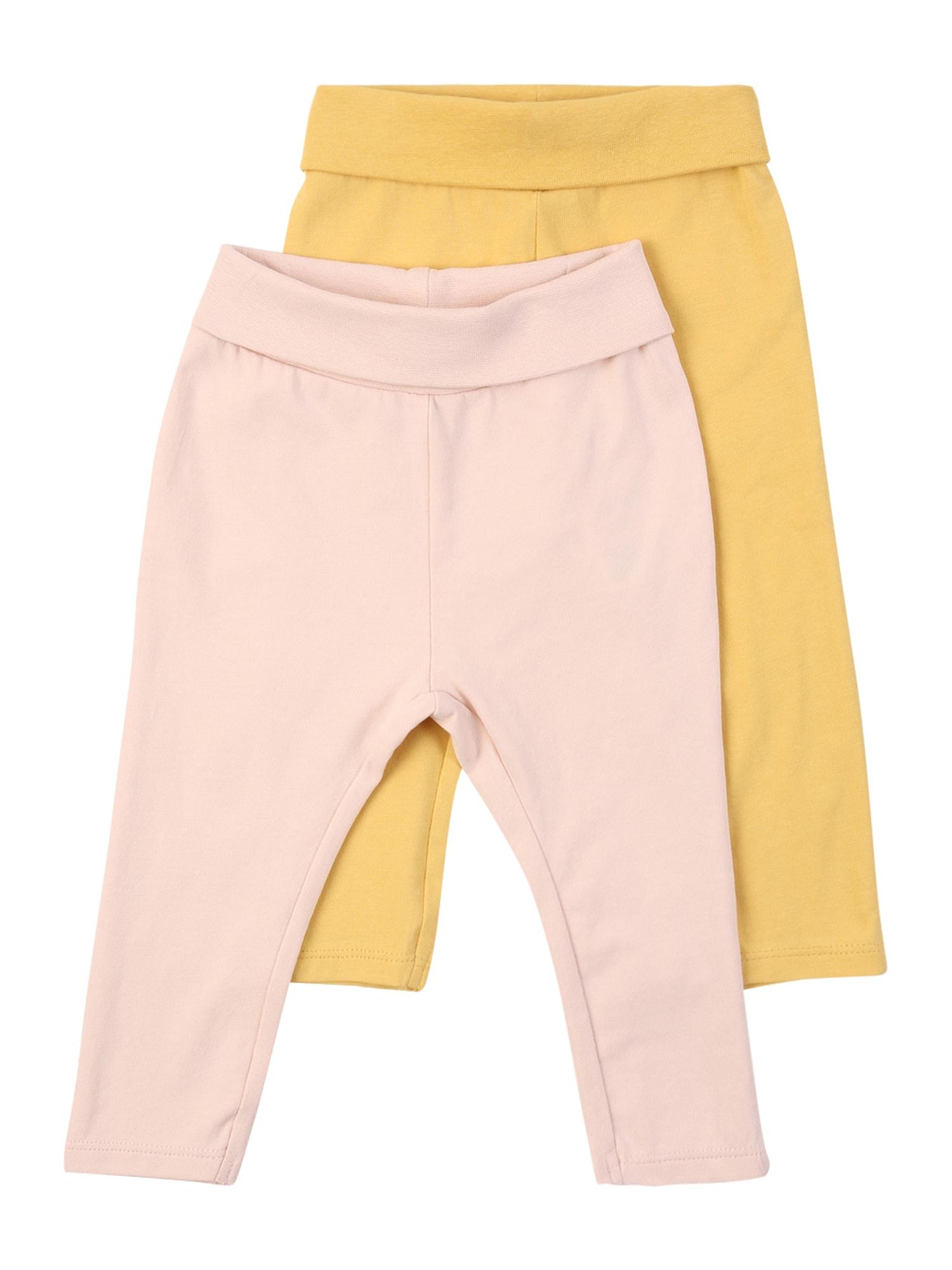 NAME IT Kelnės 'FRANSISKA' aukso geltonumo spalva / rožių spalva