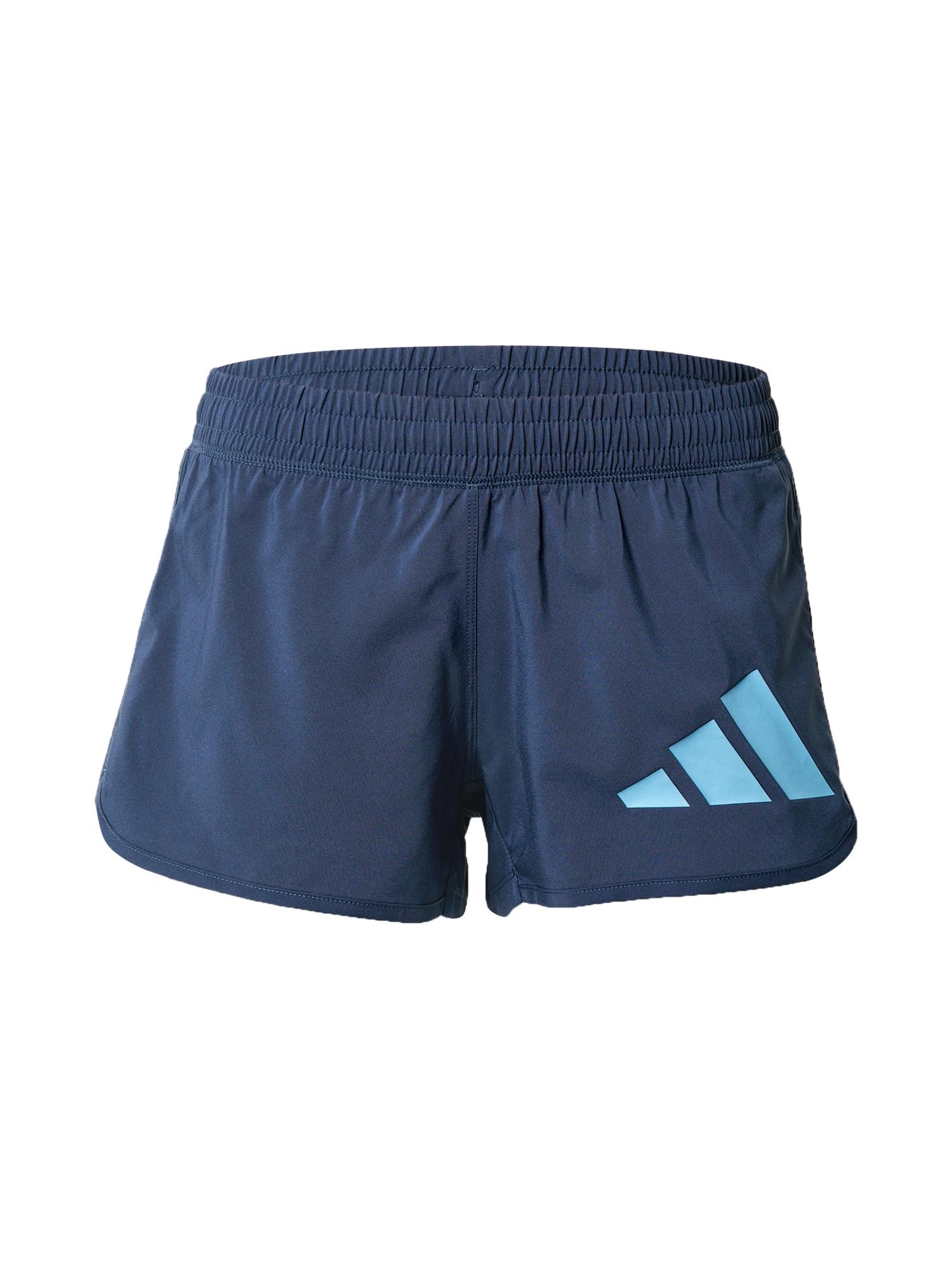 ADIDAS PERFORMANCE Sportinės kelnės tamsiai mėlyna / vandens spalva